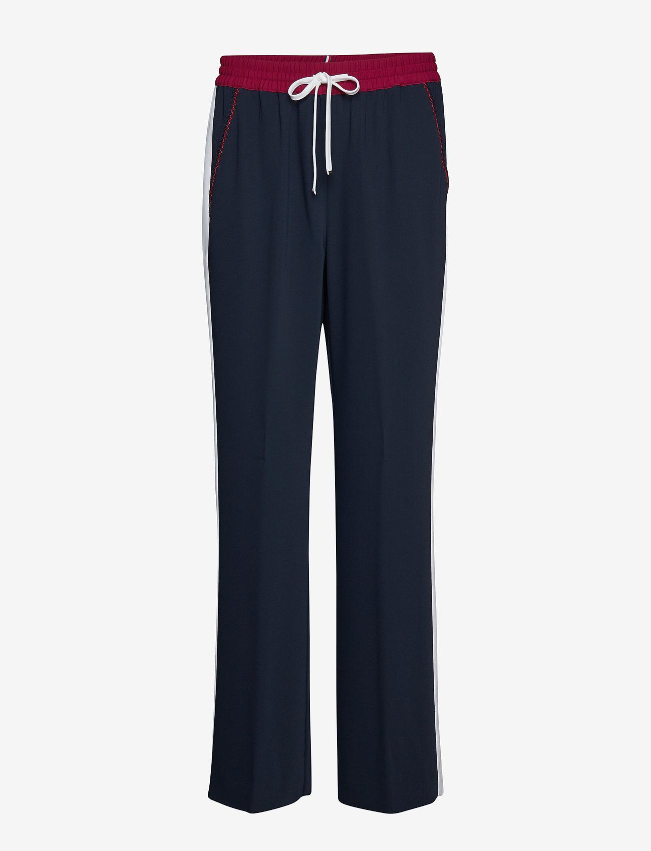 Tommy Hilfiger - FLORENTINA PANT - wide leg trousers - sky captain - 0