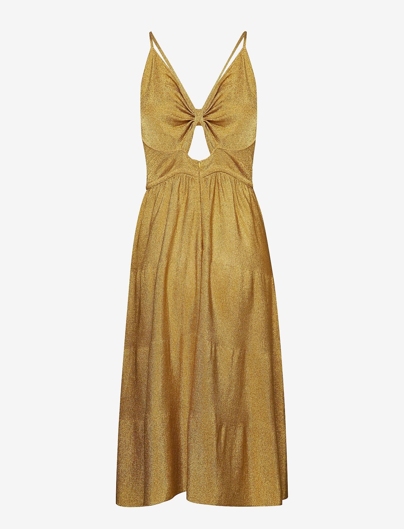 Tommy Hilfiger - ZENDAYA LUREX TIE FR - midi dresses - li gold