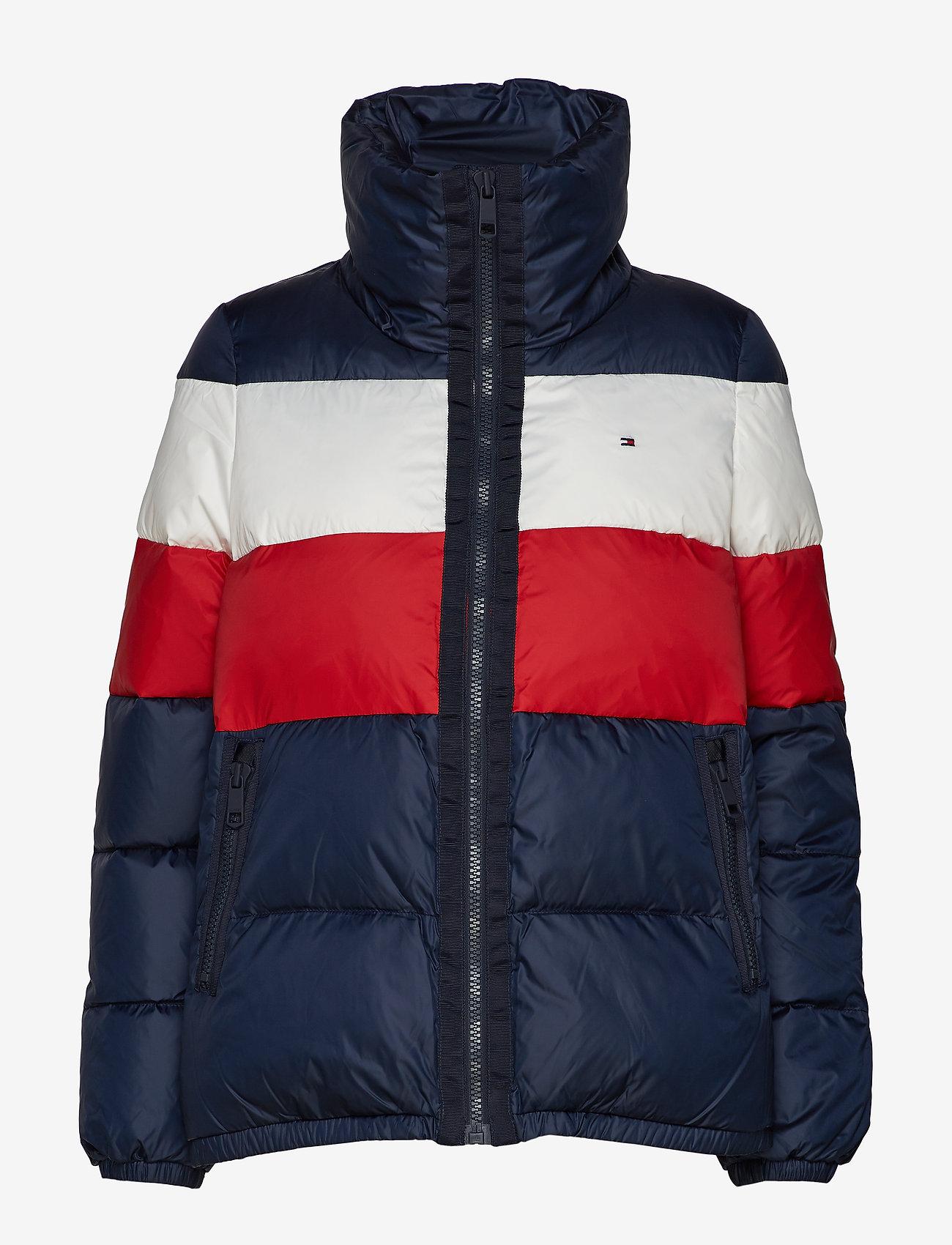 Tommy Hilfiger - NAOMI RECYCLED DOWN JKT - padded jackets - rwb colour block - 1