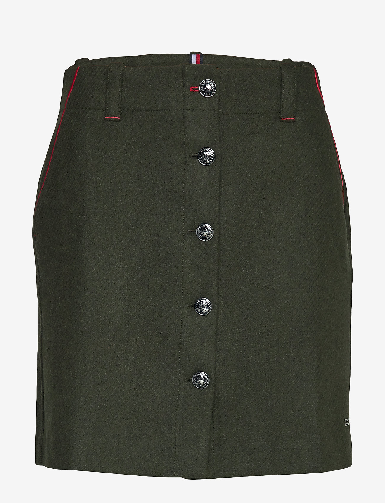 Tommy Hilfiger - LUITGARD MINI SKIRT - jupes courtes - camo green - 0