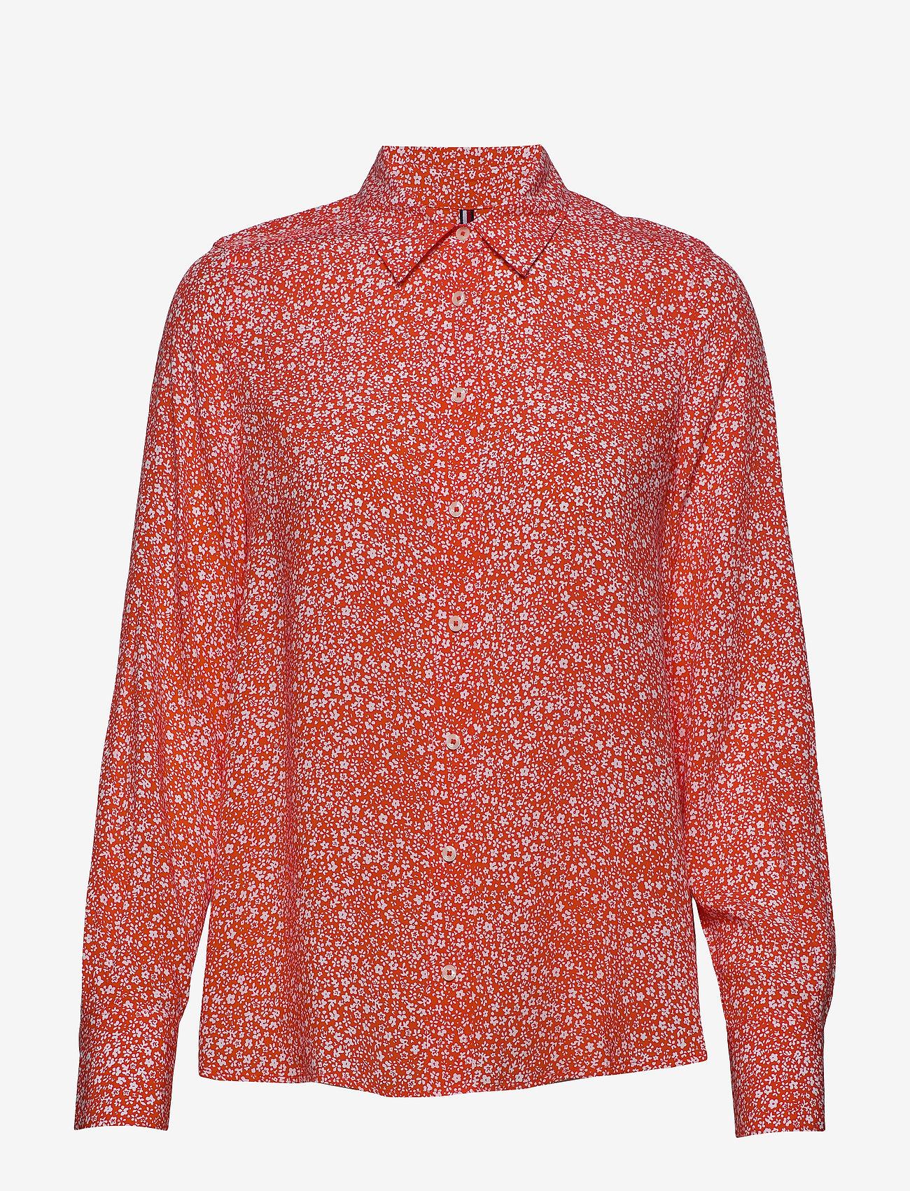 Tommy Hilfiger - DANEE BLOUSE LS - langærmede skjorter - ditsy floral prt / br. ver - 0