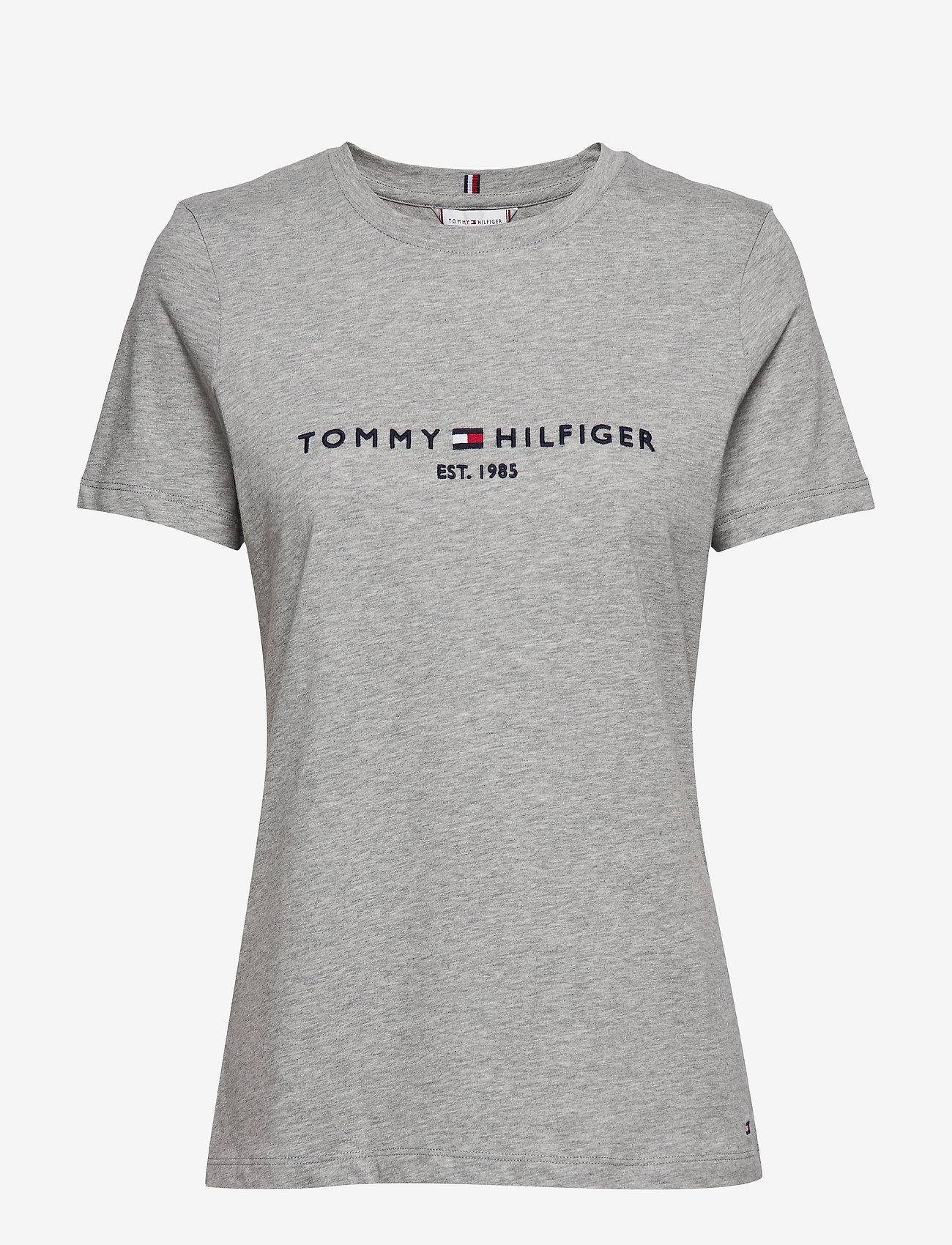 Tommy Hilfiger - NEW TH ESS HILFIGER - logo t-shirts - light grey heather