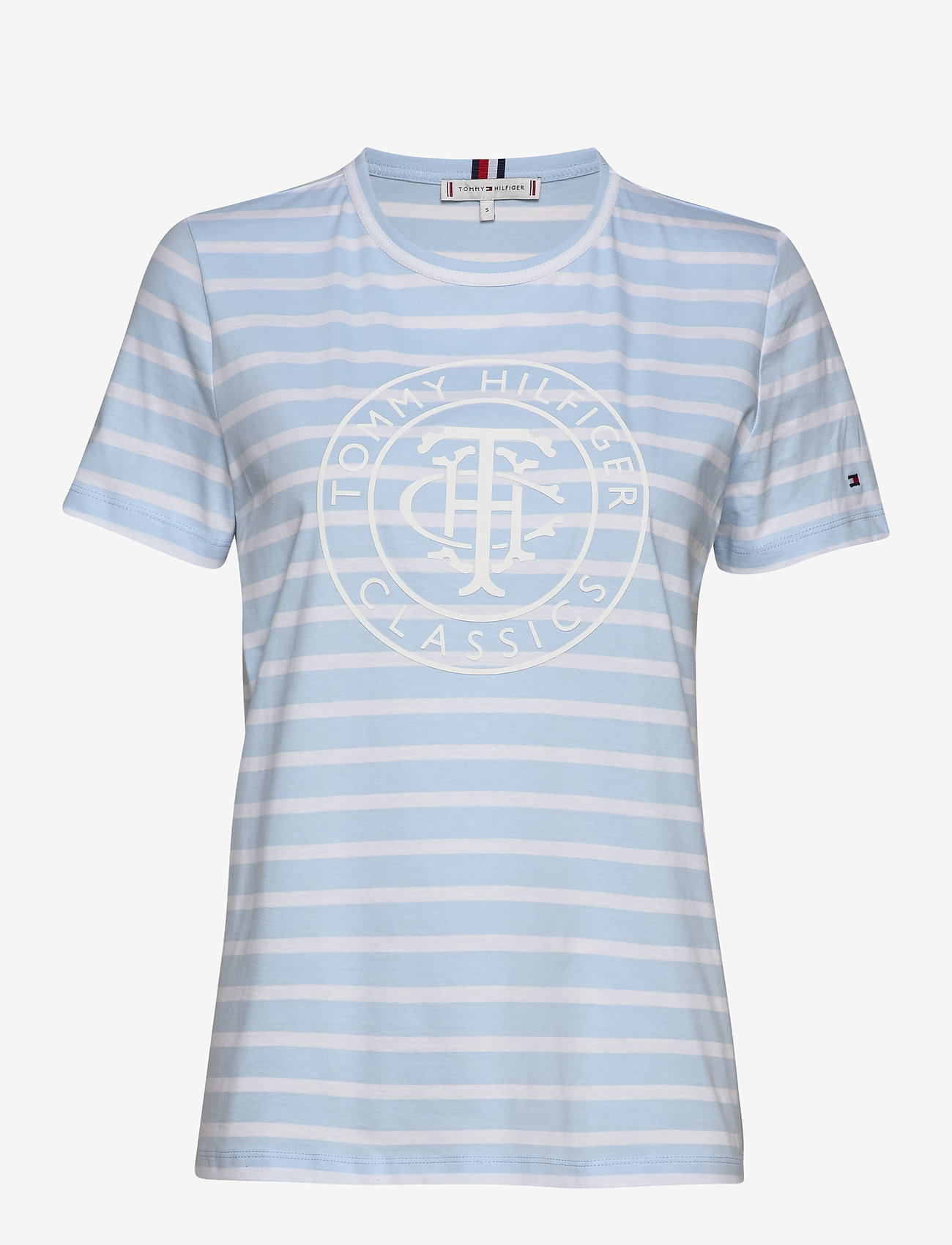 Tommy Hilfiger - TH COOL ESS RELAXED - t-shirts - breton stp / breezy blue white