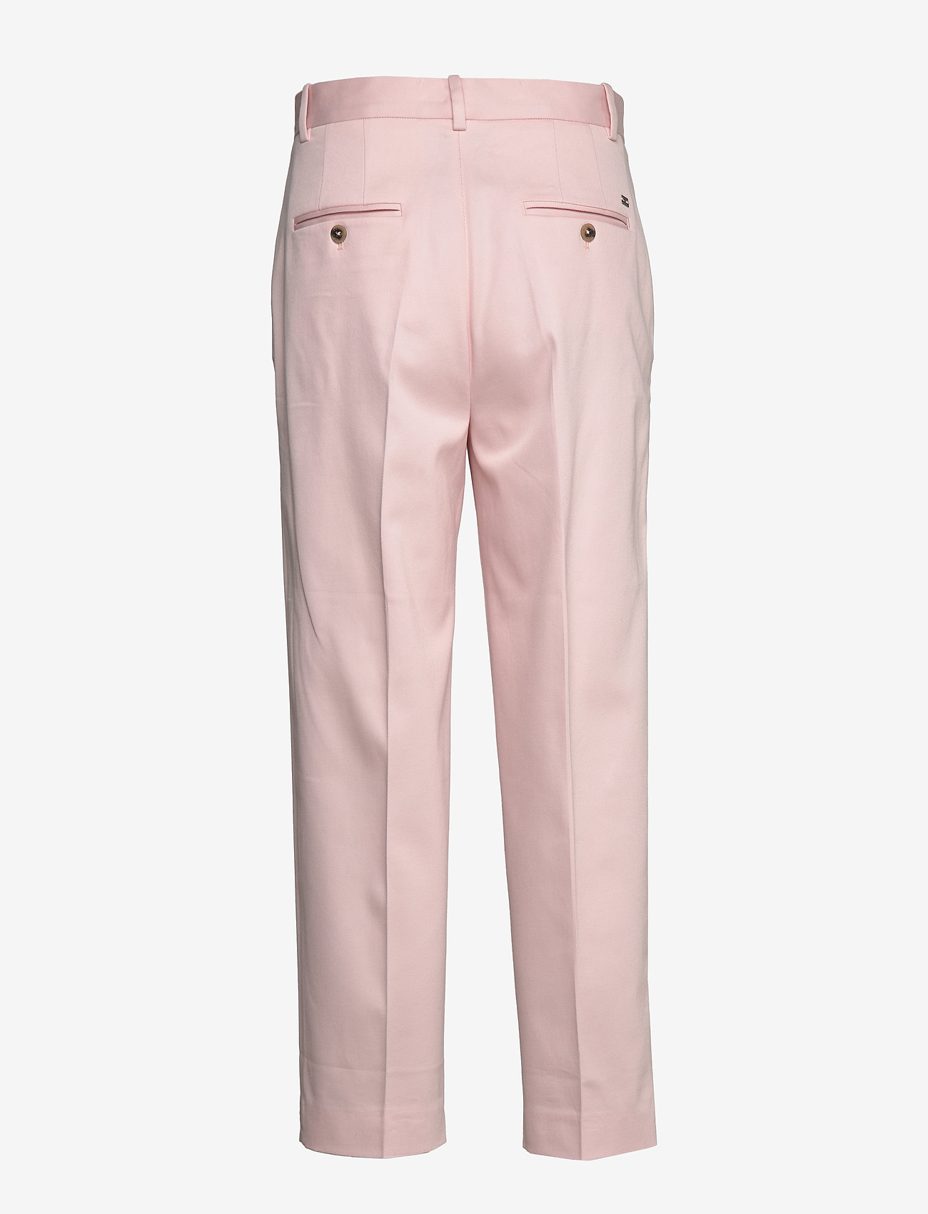 Tommy Hilfiger - COTTON PASTEL TAPERED PANT - straight leg trousers - pale pink