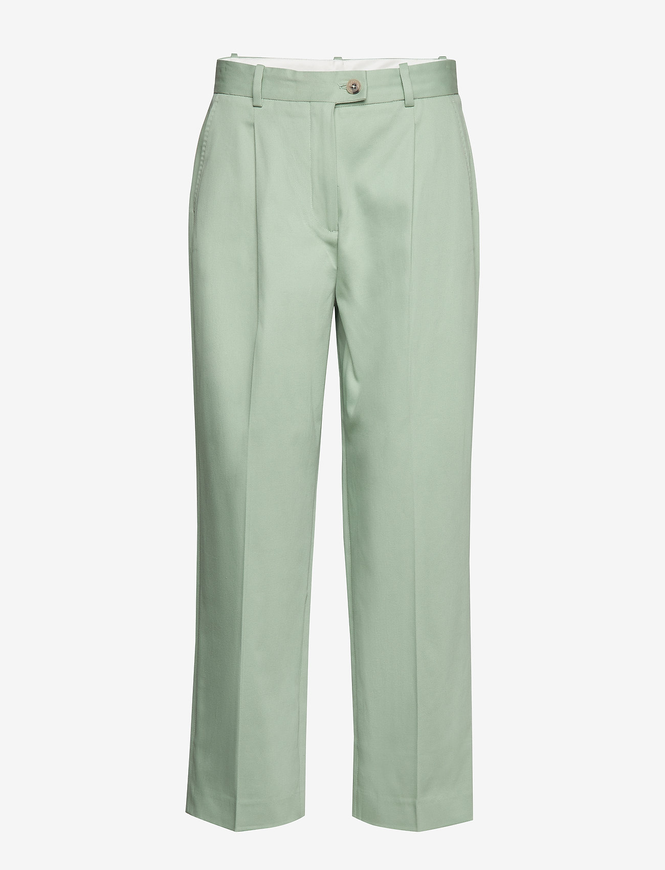 Tommy Hilfiger - COTTON PASTEL TAPERED PANT - straight leg trousers - sea mist mint - 1