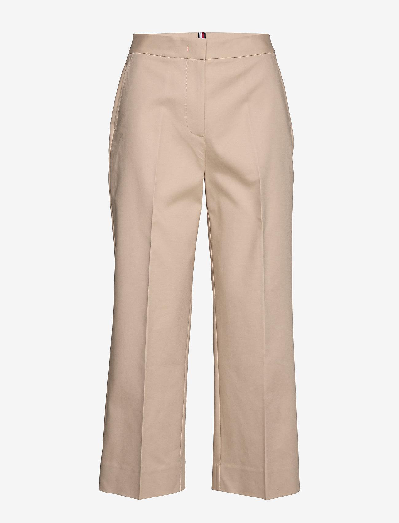 Tommy Hilfiger - SLUB COTTON CULOTTE PANT - straight leg trousers - sahara tan - 0