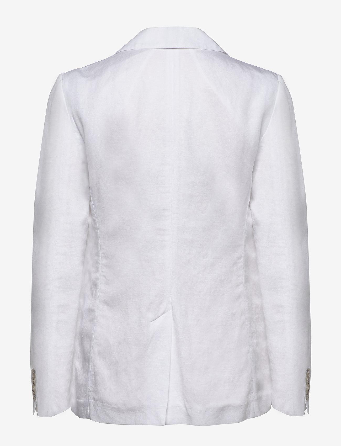 Tommy Hilfiger - LINEN TENCEL SB BLAZER - blazers - white - 1