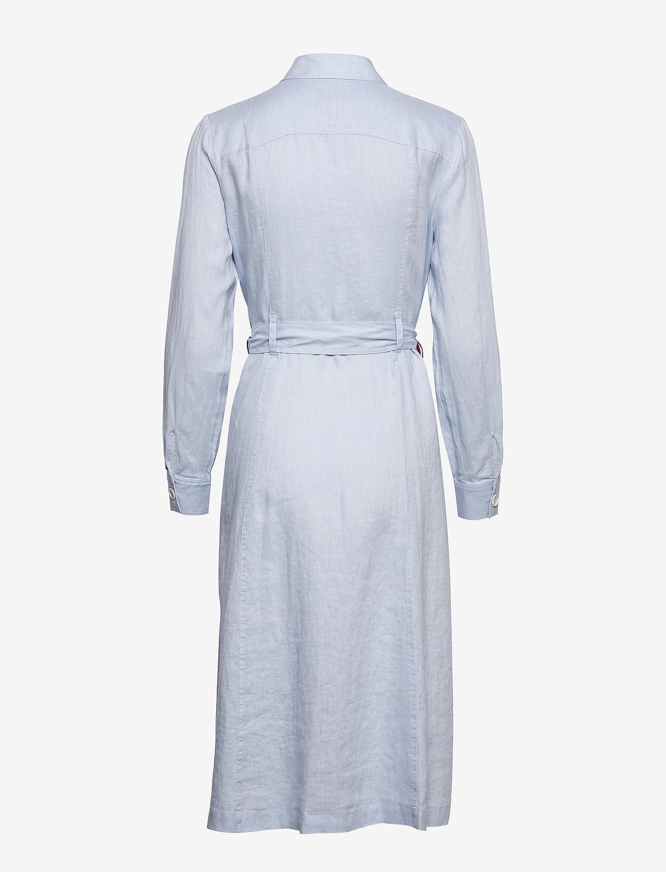 Tommy Hilfiger - TH ESSENTIAL PENELOPE DRESS LS - shirt dresses - breezy blue