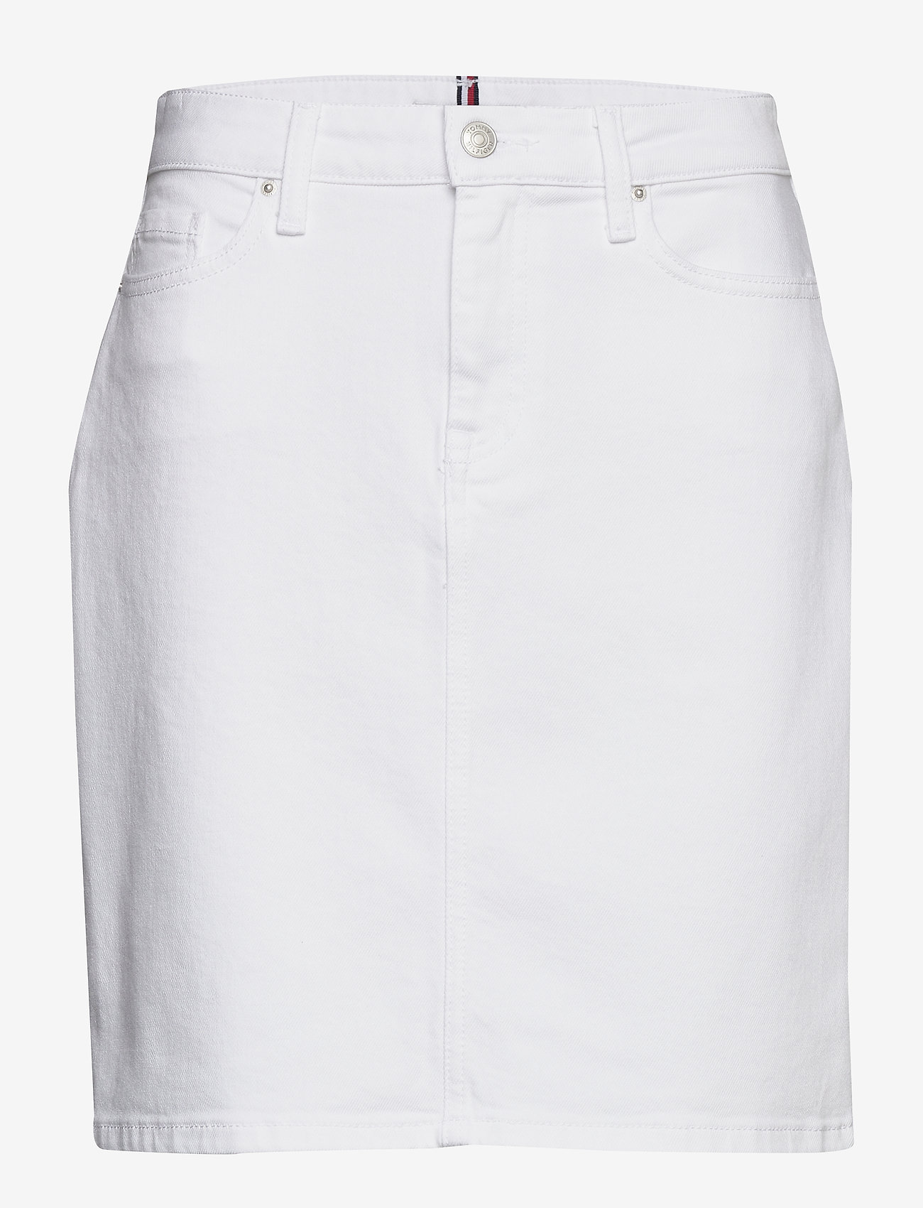 Tommy Hilfiger - ROME STRAIGHT HW SKI - jupes en jeans - white - 0