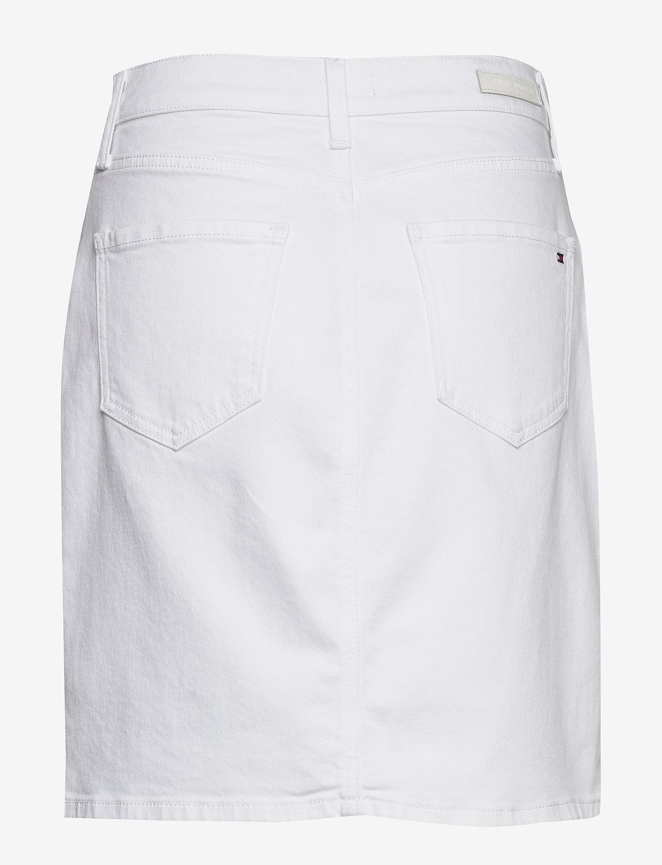 Tommy Hilfiger - ROME STRAIGHT HW SKI - jupes en jeans - white - 1
