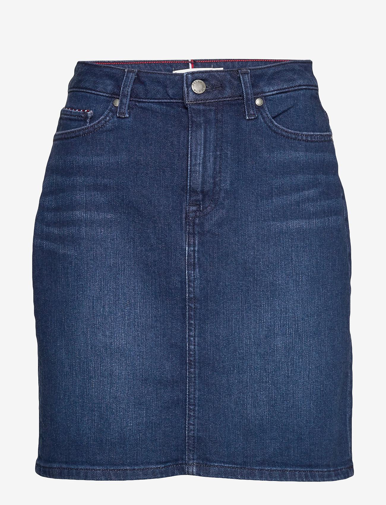 Tommy Hilfiger - ROME STRAIGHT HW SKIRT EVI - jupes en jeans - evi - 0