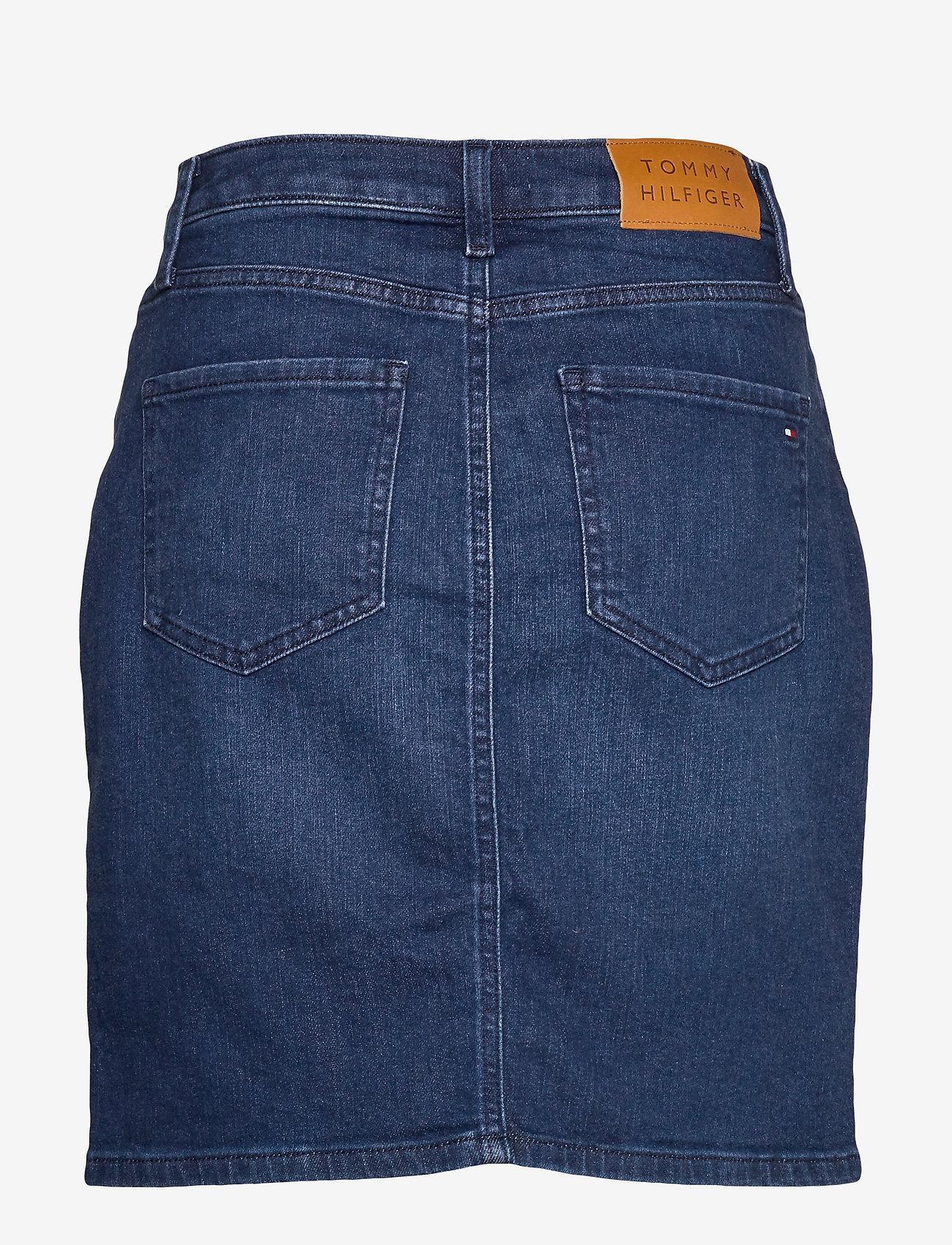 Tommy Hilfiger - ROME STRAIGHT HW SKIRT EVI - jupes en jeans - evi - 1