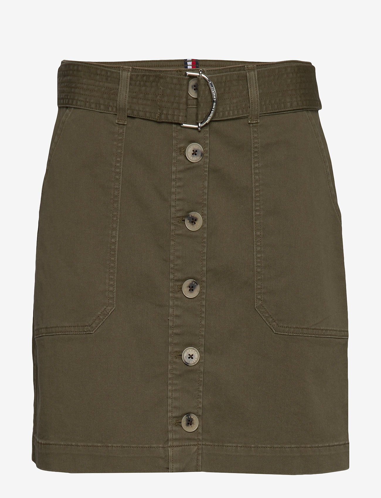 Tommy Hilfiger - COTTON TWILL MINI SKIRT - jupes courtes - army green - 0
