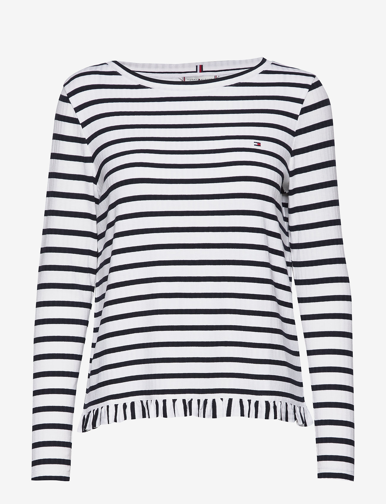 Tommy Hilfiger - TANJA RELAXED BOAT-N - striped t-shirts - breton stp / desert sky - whit
