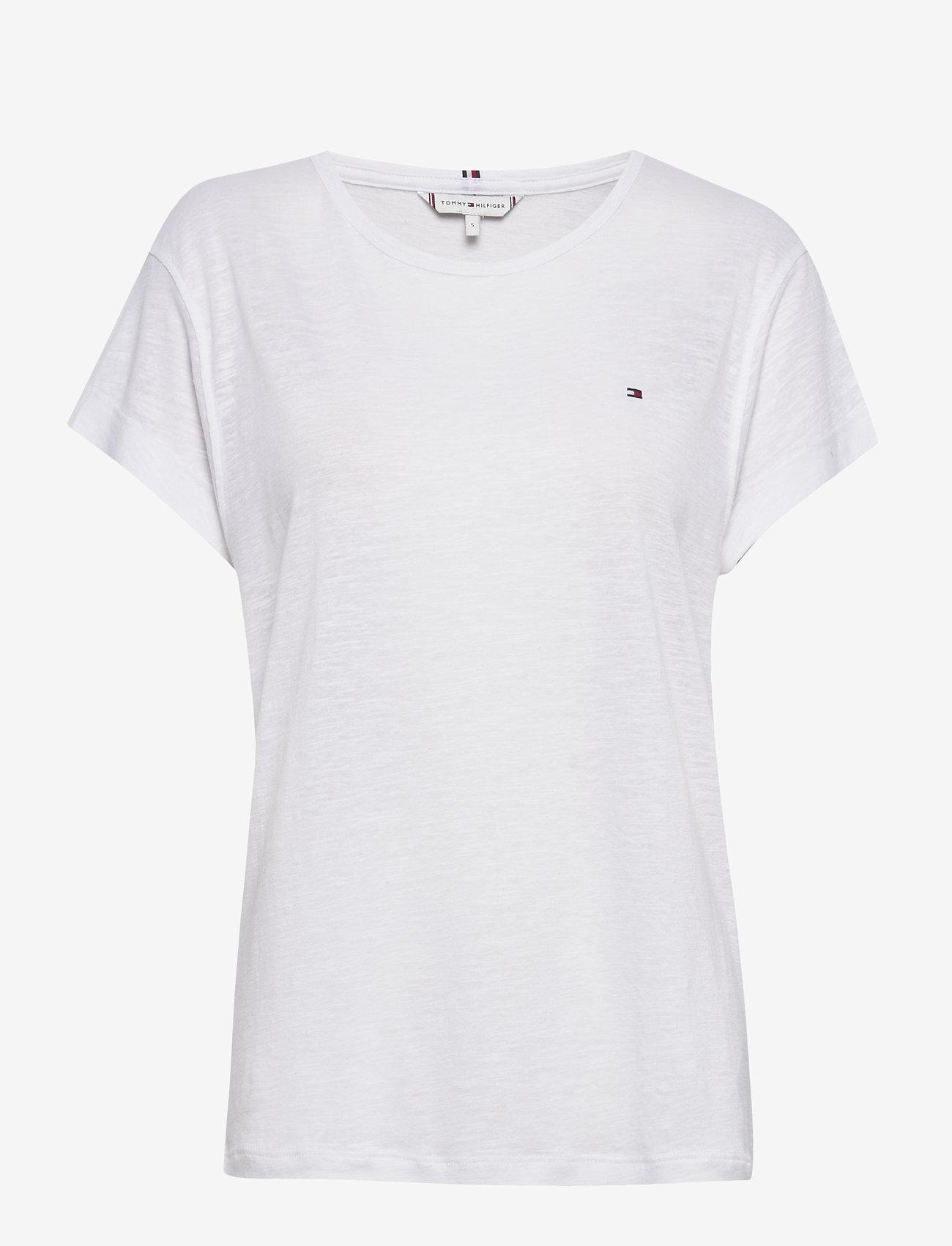 Tommy Hilfiger - VIKKI ROUND-NK TOP SS - t-shirts - white - 0