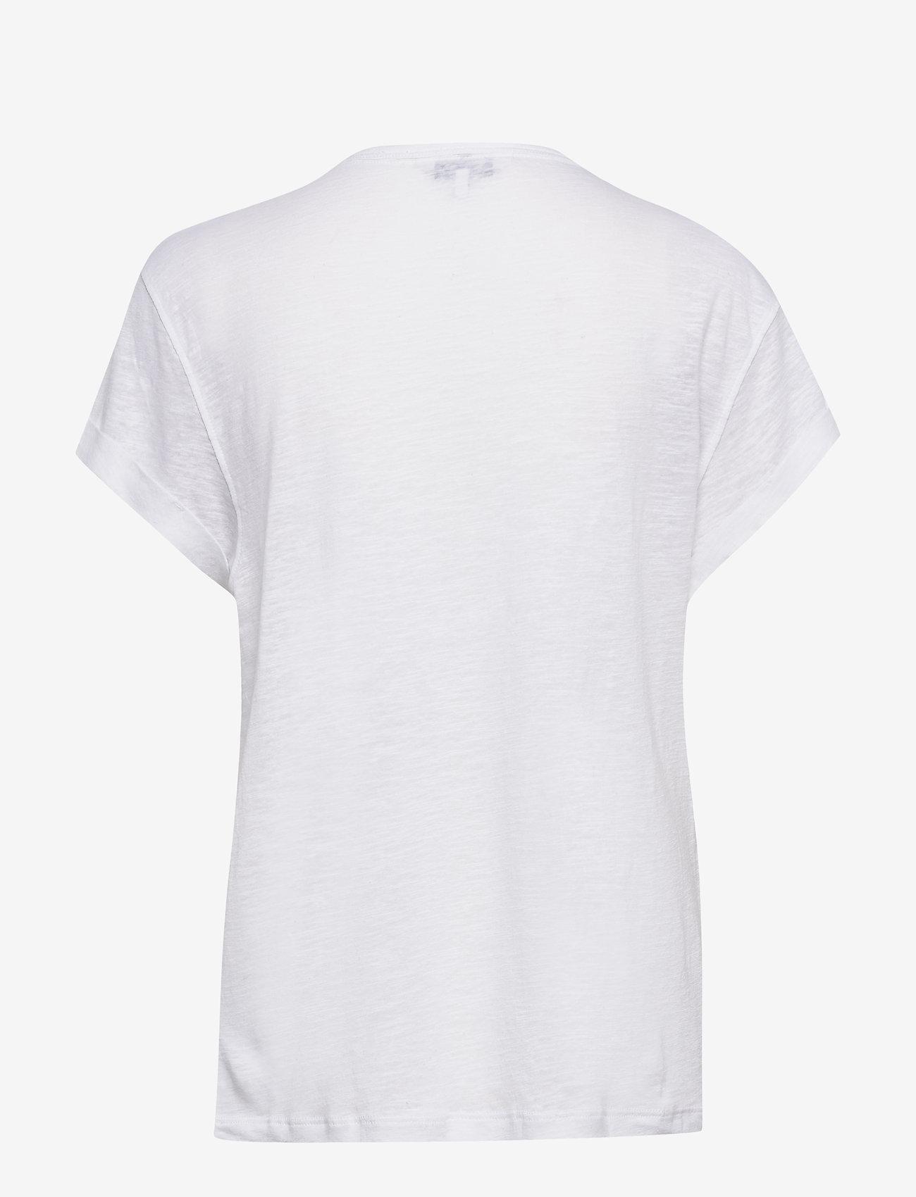 Tommy Hilfiger - VIKKI ROUND-NK TOP SS - t-shirts - white - 1