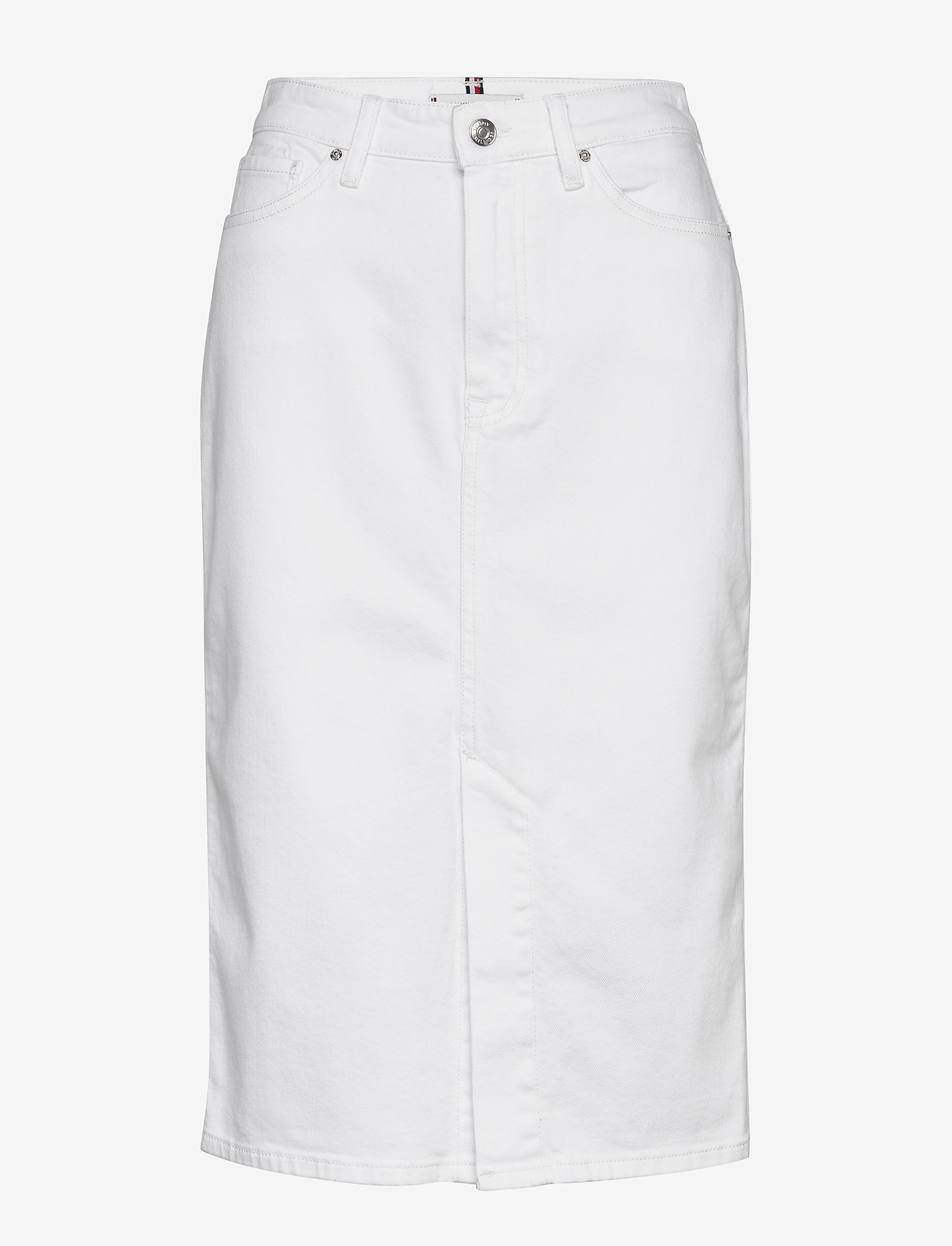 Tommy Hilfiger - PENCIL SKIRT HW WHITE - denim skirts - white - 0