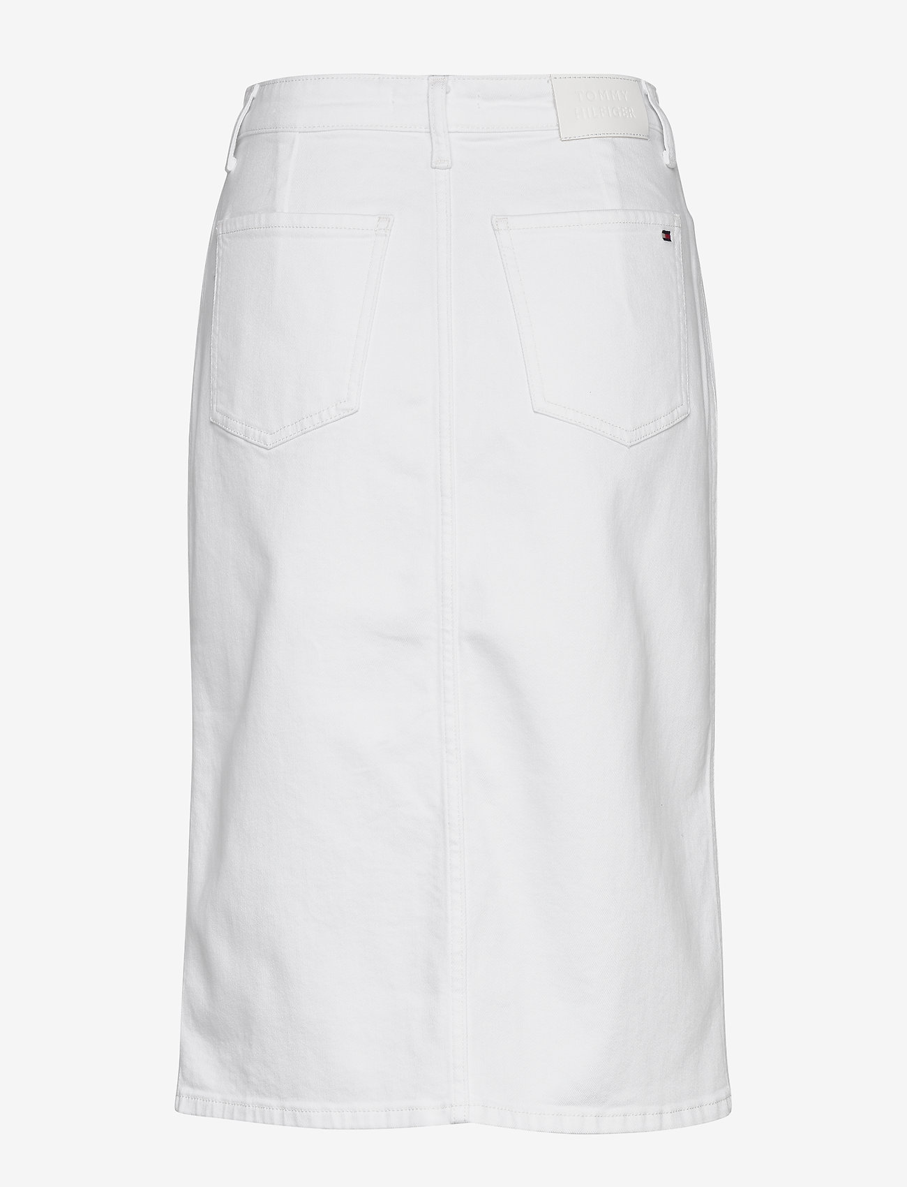 Tommy Hilfiger - PENCIL SKIRT HW WHITE - denim skirts - white - 1
