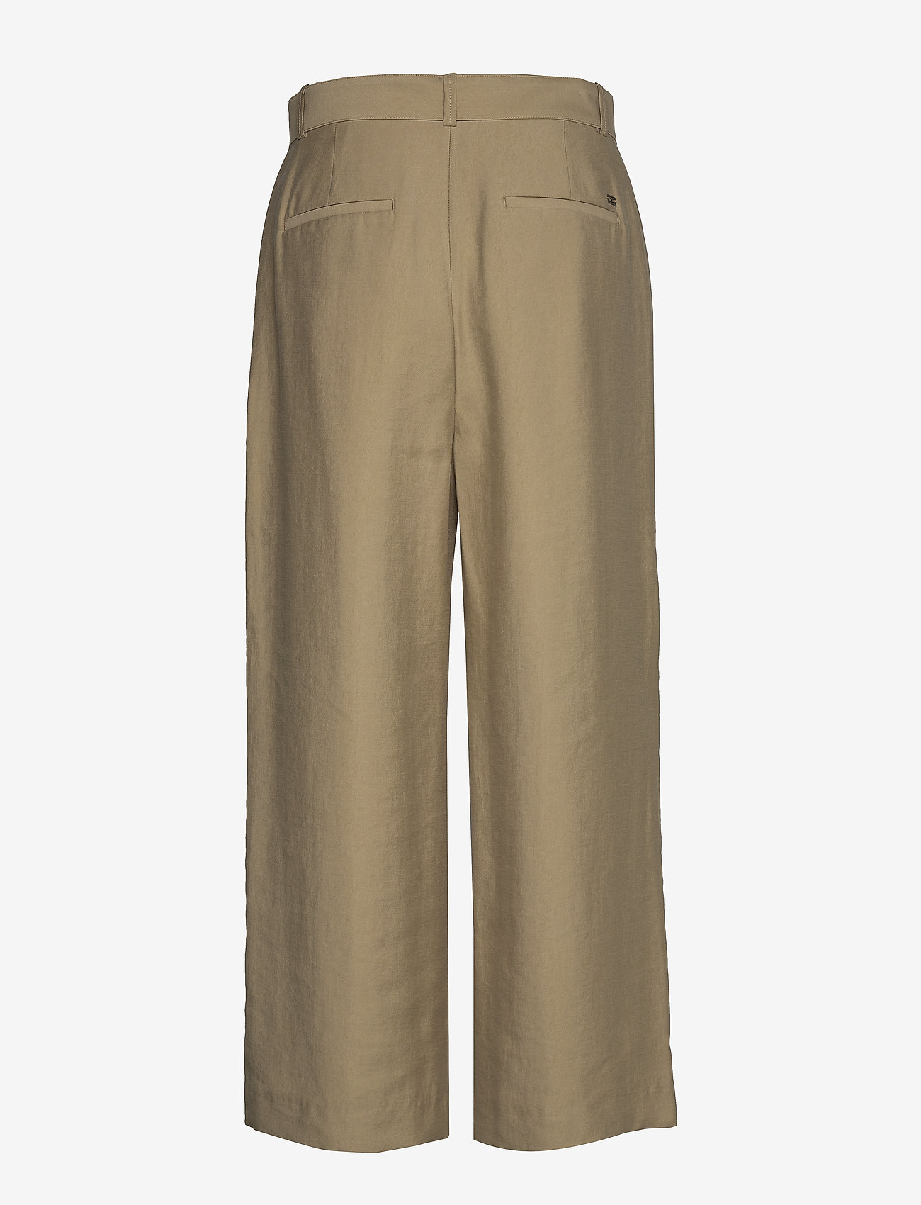 Tommy Hilfiger - TENCEL TWILL WIDE LEG CR PANT - wide leg trousers - surplus khaki - 1