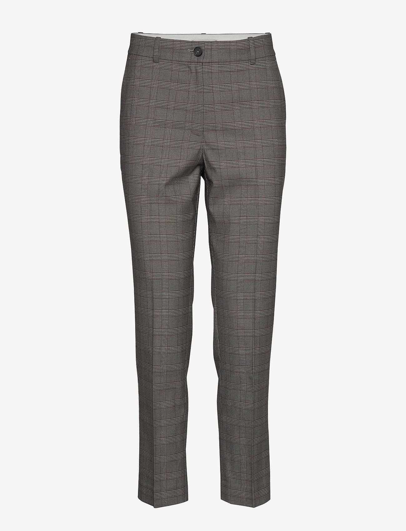 Tommy Hilfiger - Y/D POW CHECK SLIM AL PANT - straight leg trousers - cw check black small scale - 0