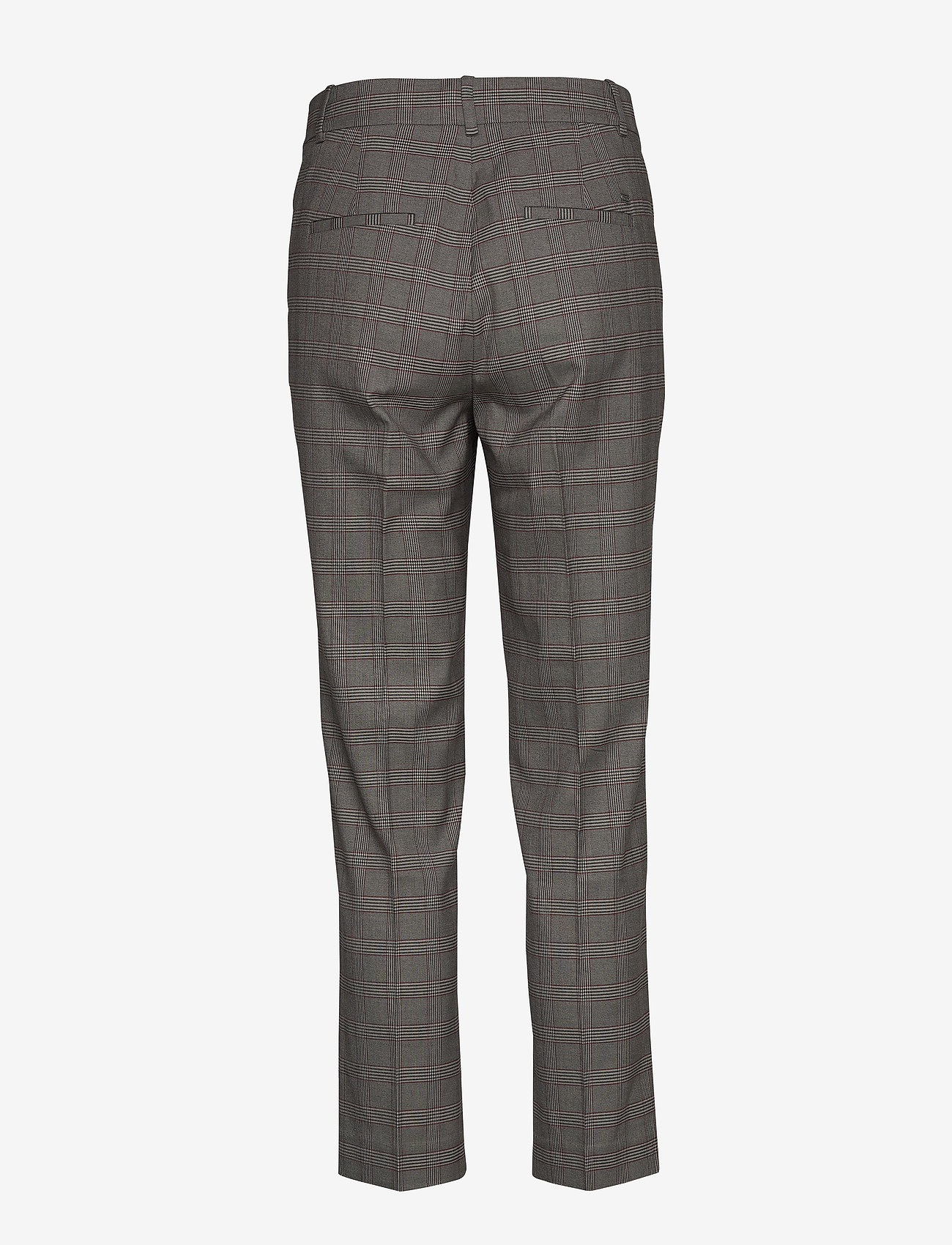 Tommy Hilfiger - Y/D POW CHECK SLIM AL PANT - straight leg trousers - cw check black small scale - 1