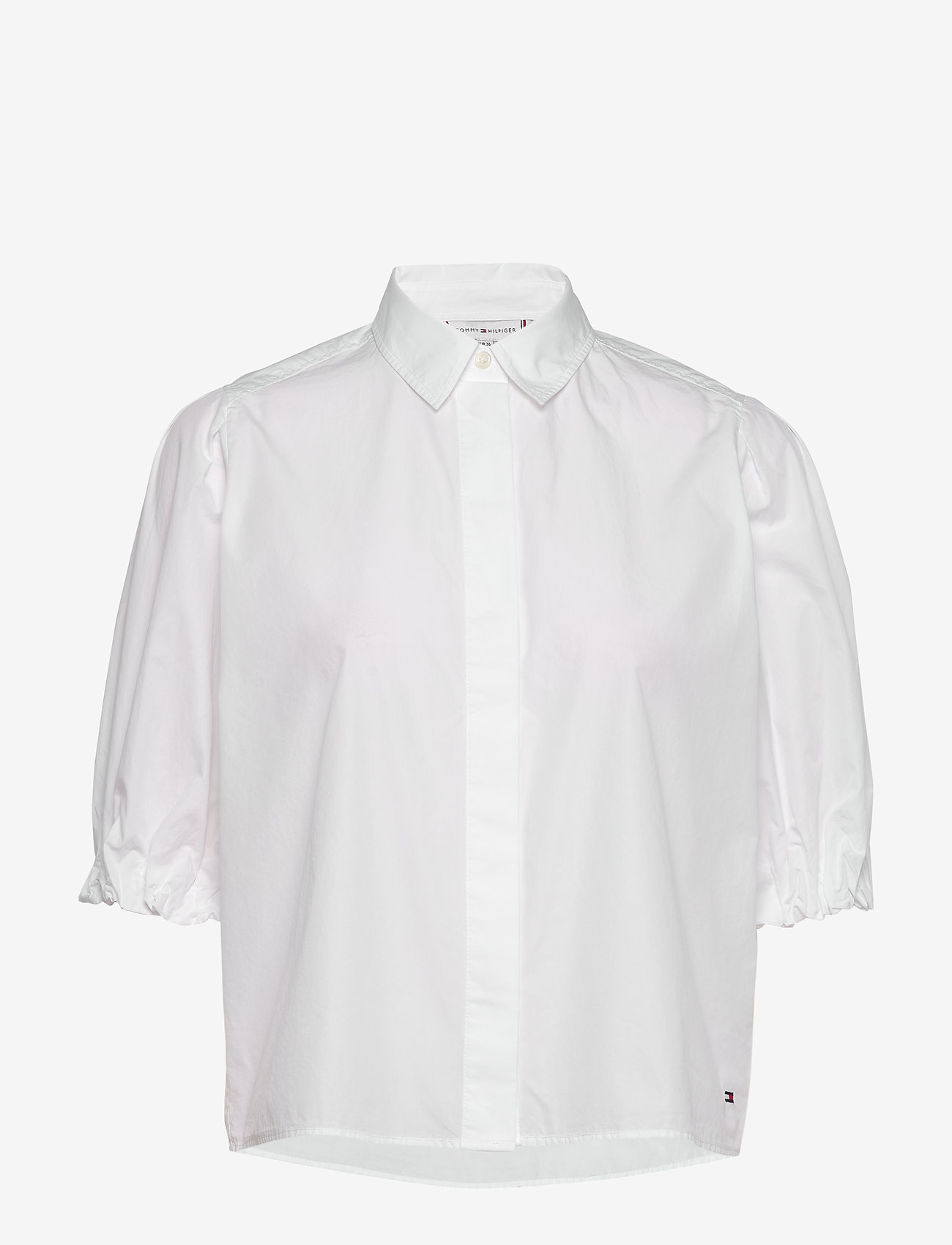 Tommy Hilfiger - SANNI SHIRT SS - overhemden met korte mouwen - th optic white - 0