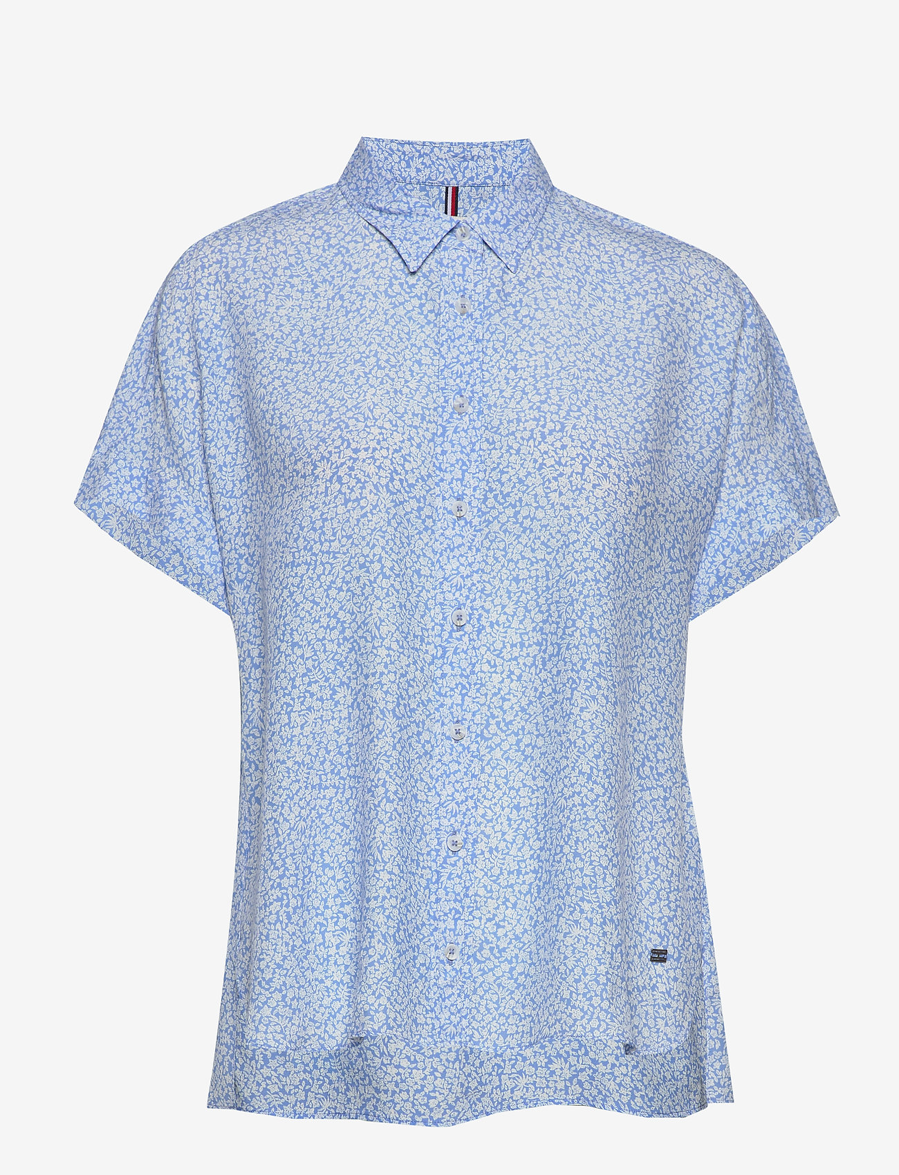 Tommy Hilfiger - RAELIN SHIRT SS - koszule z krótkim rękawem - ditsy floral light iris blue - 0