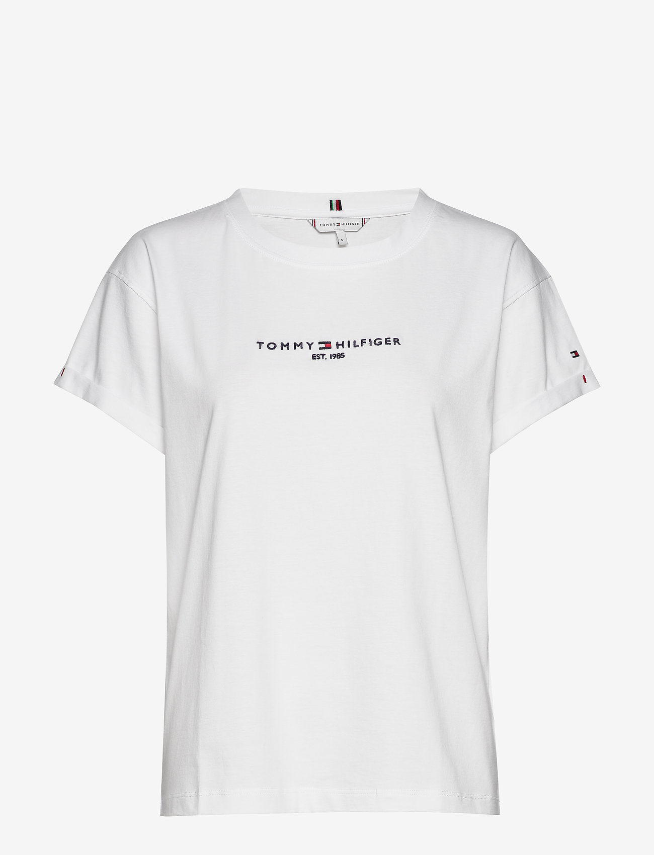 Tommy Hilfiger - TH ESS HILFIGER RLXD C-NK TOP SS - t-shirts - white