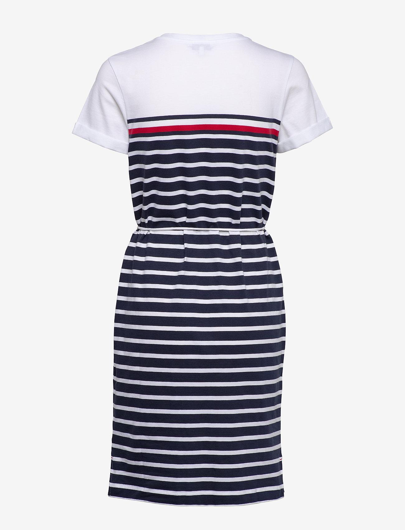 Tommy Hilfiger - BALOU REGULAR C-NK DRESS SS - midi kjoler - eng stp gs  desert sky