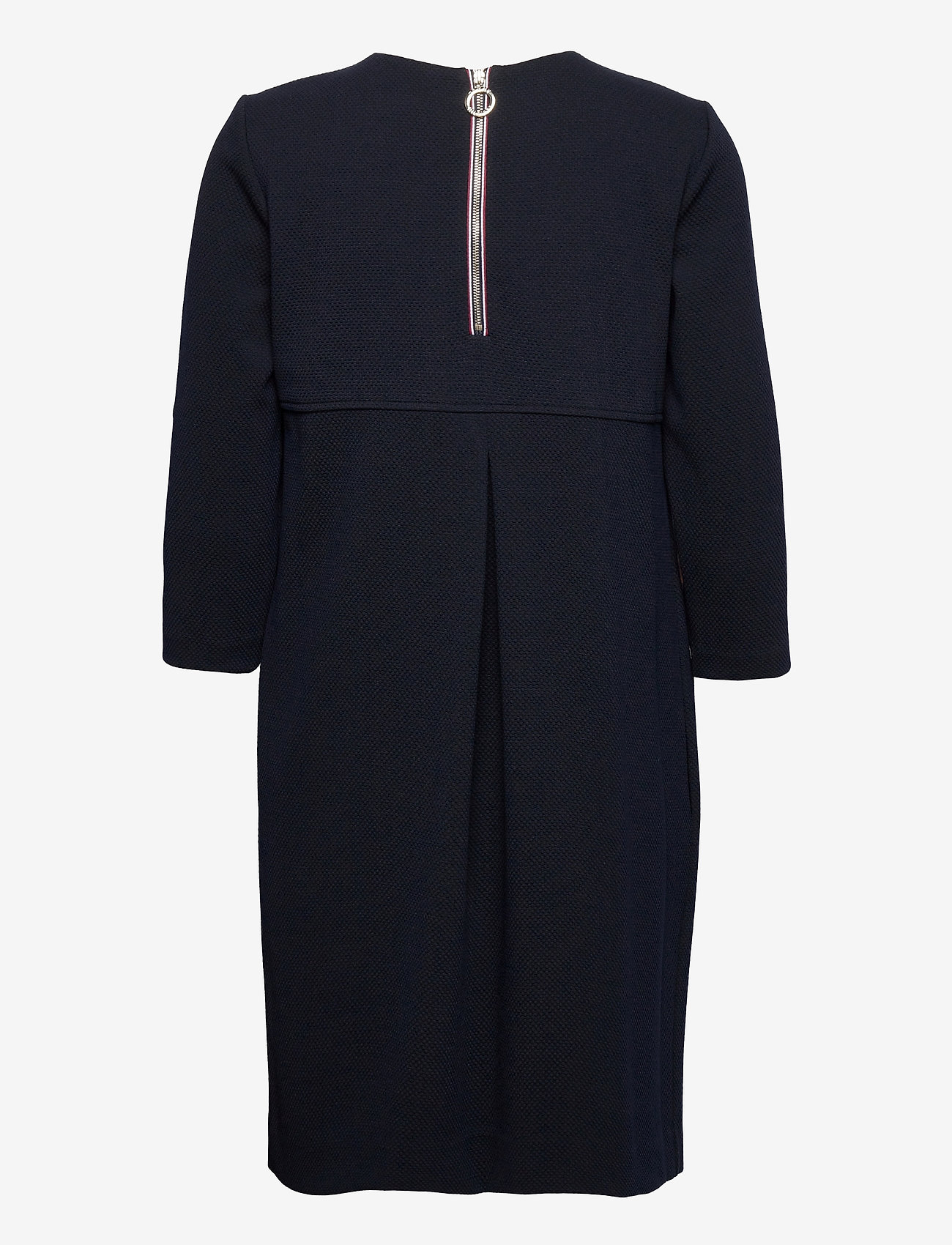 Tommy Hilfiger - SHIFT TEXTURED SS DRESS - midi dresses - desert sky - 1