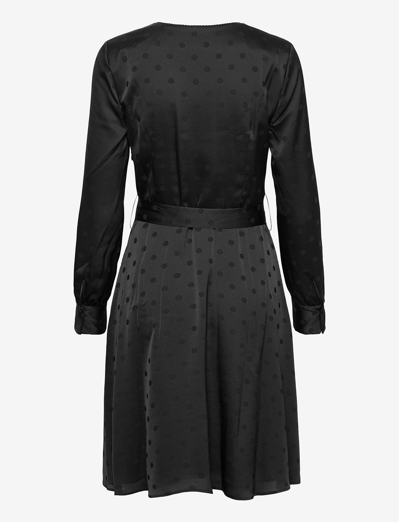 Tommy Hilfiger - POLKA DOT FIT&FLARE WRAP DRESS - wrap dresses - black - 1