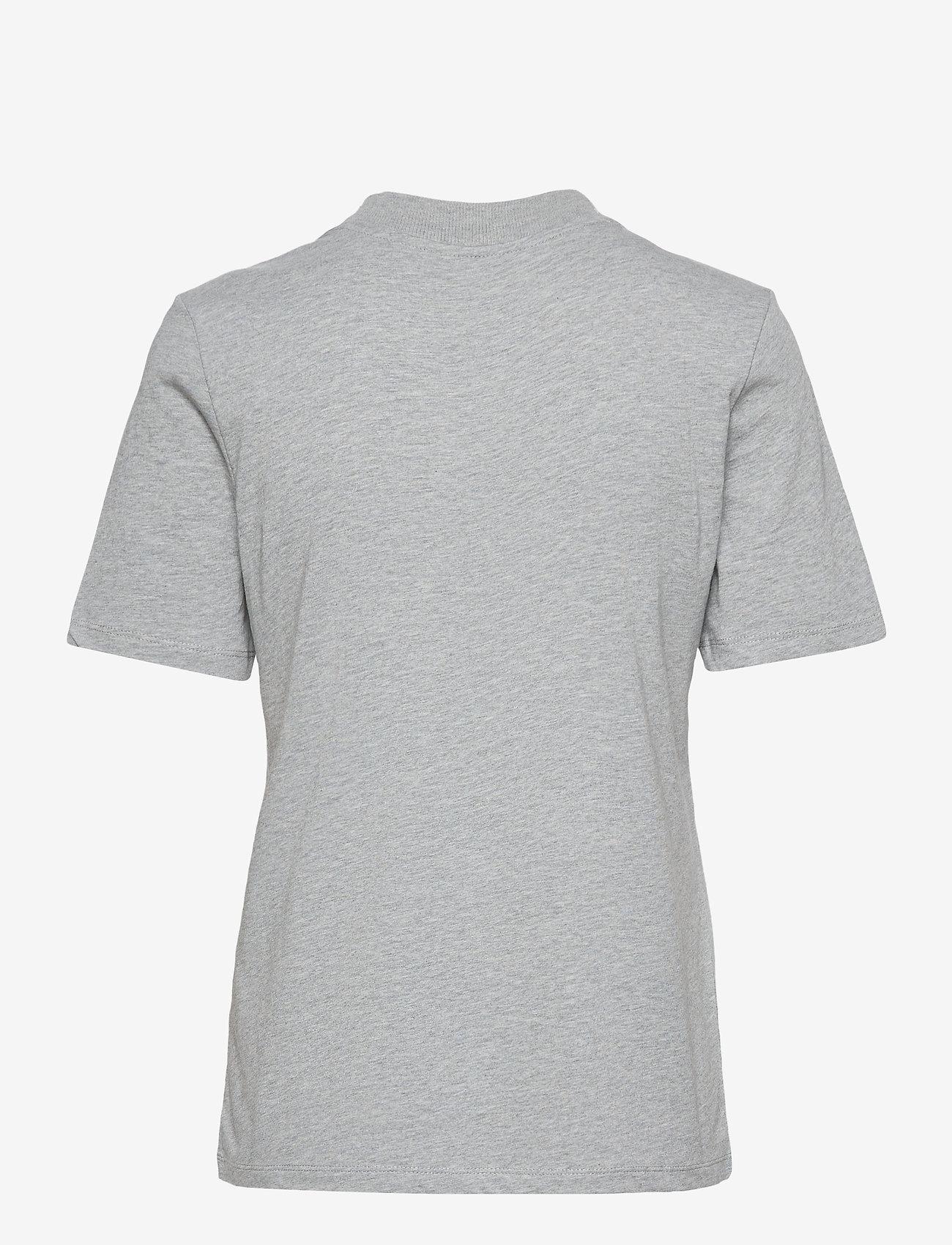 Tommy Hilfiger - REGULAR C-NK FLOCK TEE SS - t-shirts - light grey heather - 1