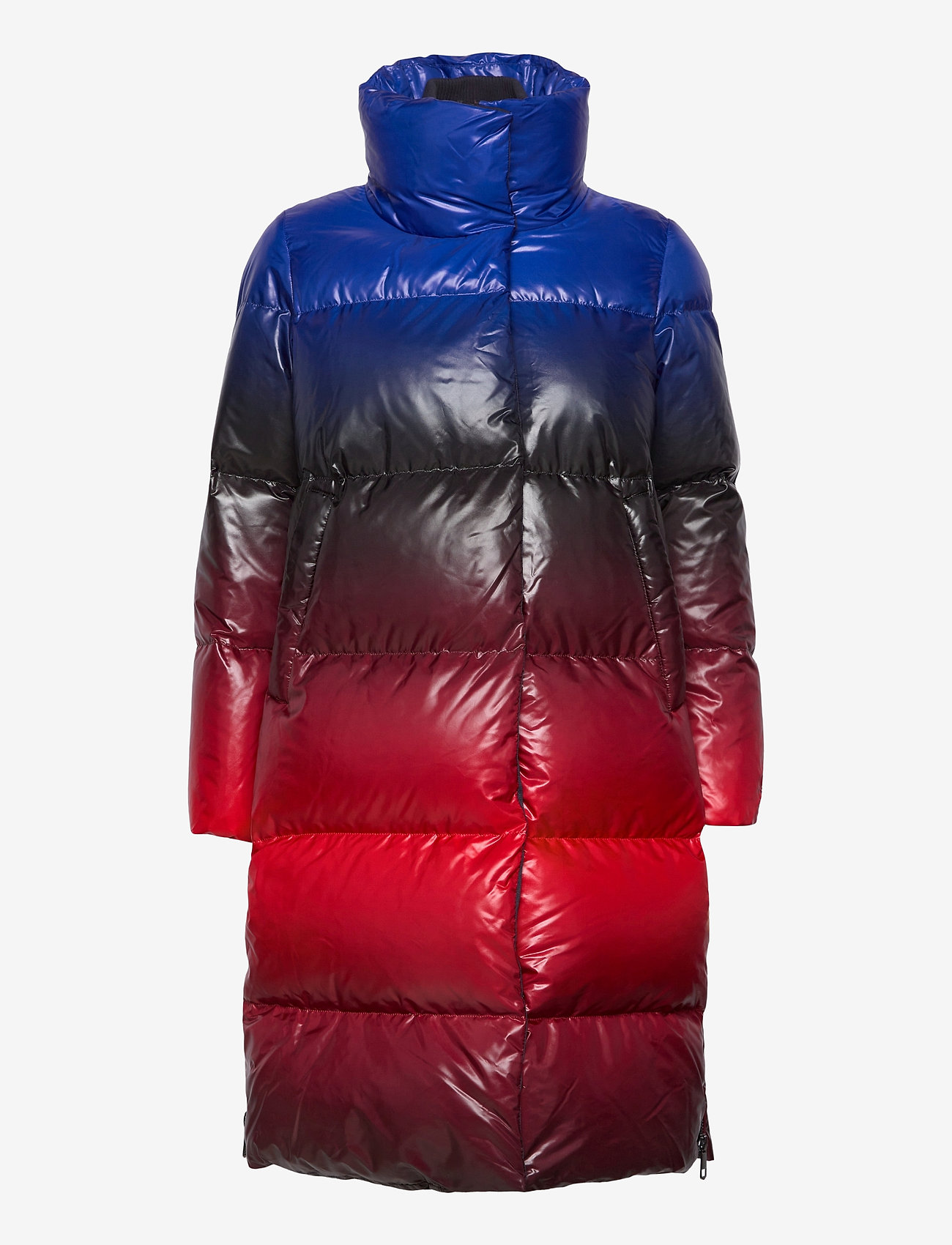 Tommy Hilfiger - ICON OMBRE PRINTED DOWN MAXI - padded coats - blue red ombre - 1