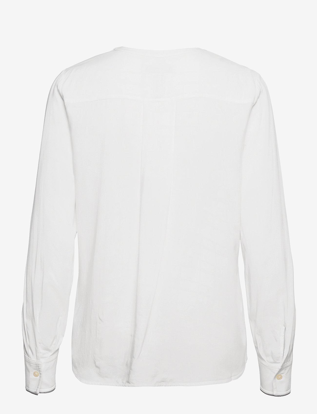 Tommy Hilfiger - VIS PLEATED REGULAR BLOUSE LS - long sleeved blouses - ecru - 1