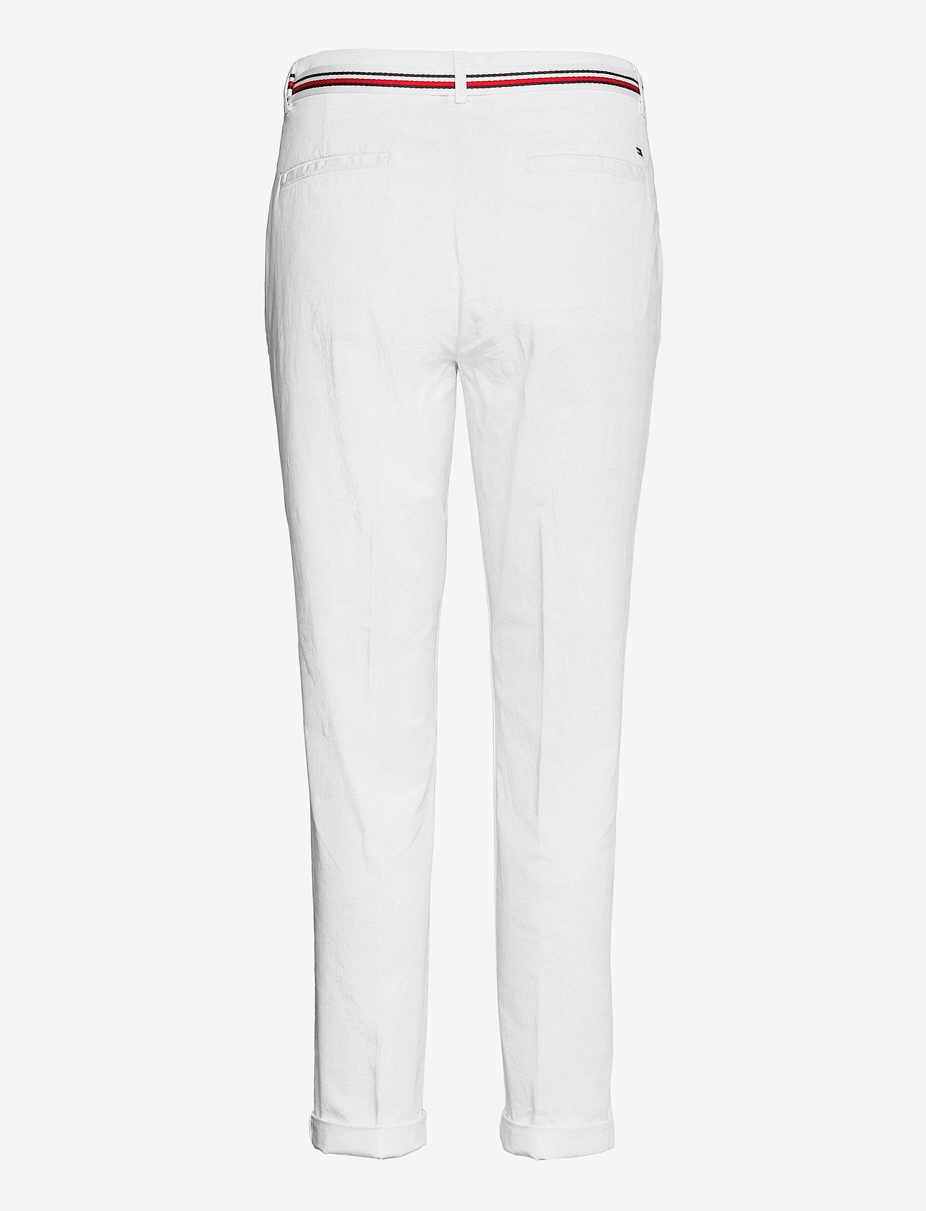 Tommy Hilfiger - CO TENCEL CHINO SLIM PANT - chinos - white - 1