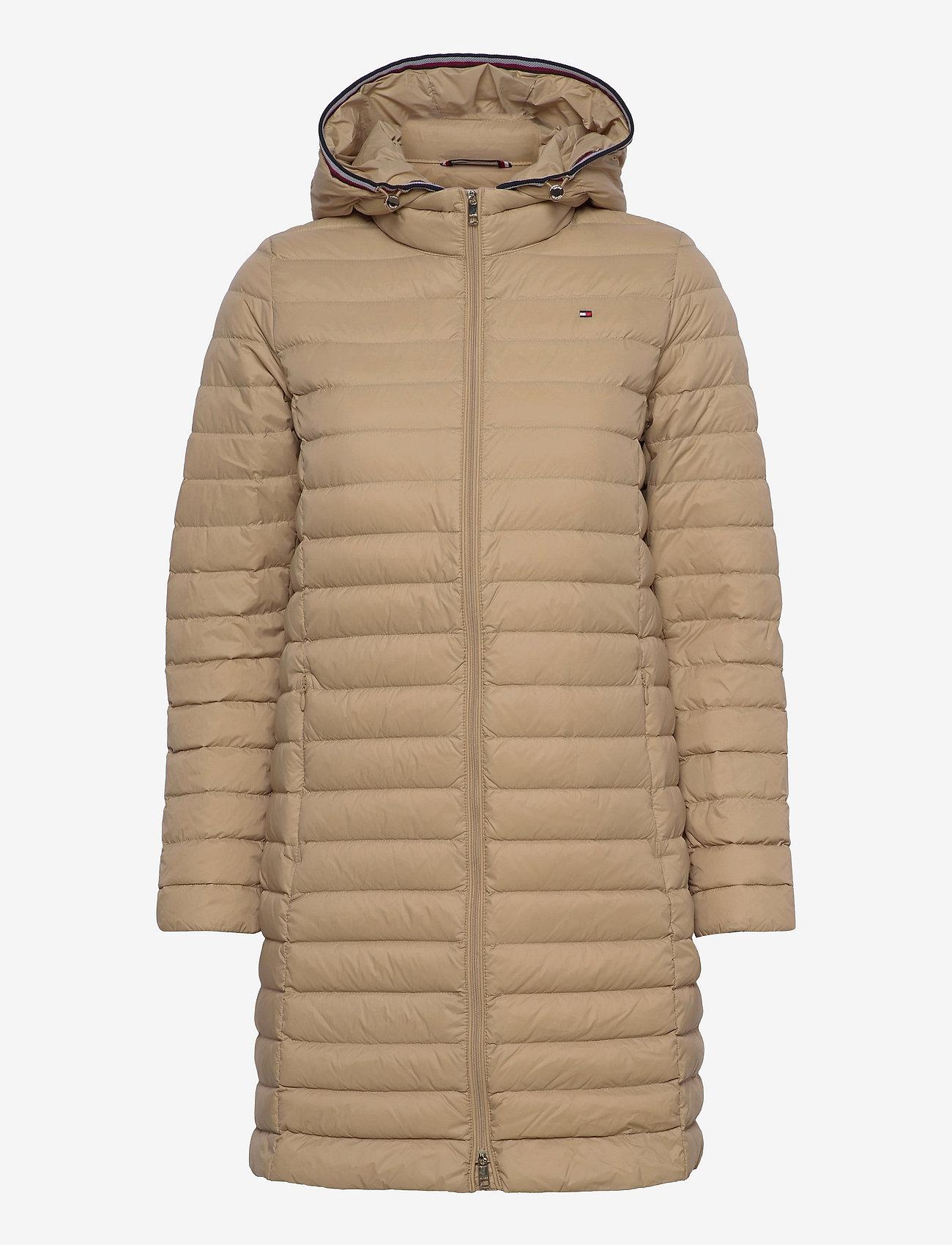 Tommy Hilfiger - TH ESS LW DOWN COAT - winter coats - beige - 0