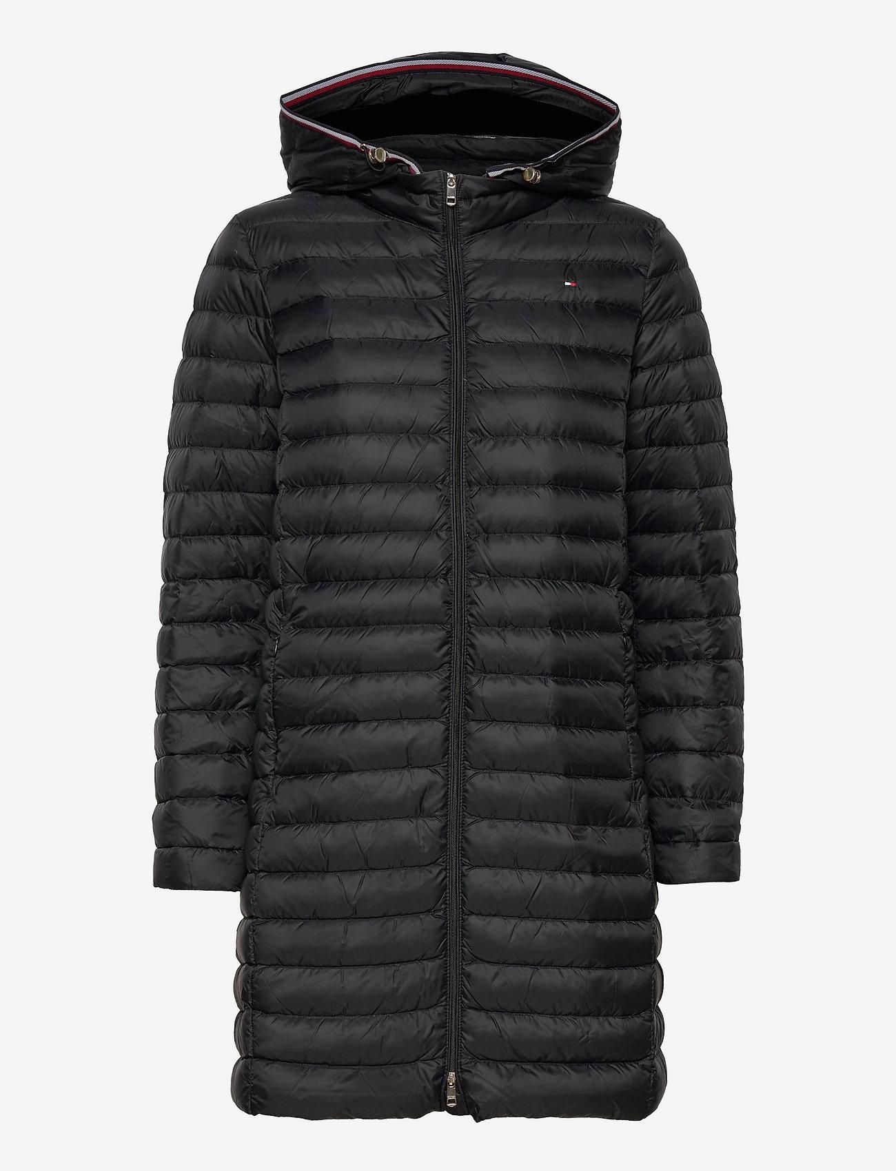 Tommy Hilfiger - TH ESS LW DOWN COAT - winter coats - black - 1