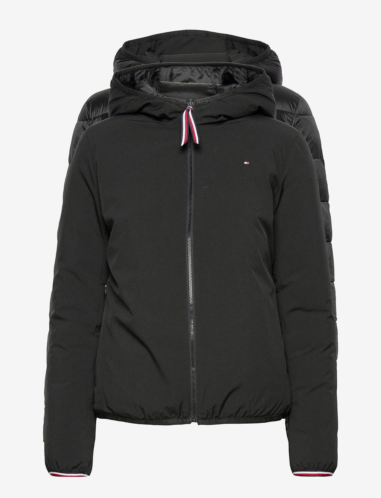 Tommy Hilfiger - TH ESS REVERSIBLE PADDED JACKET - winter jackets - black - 0