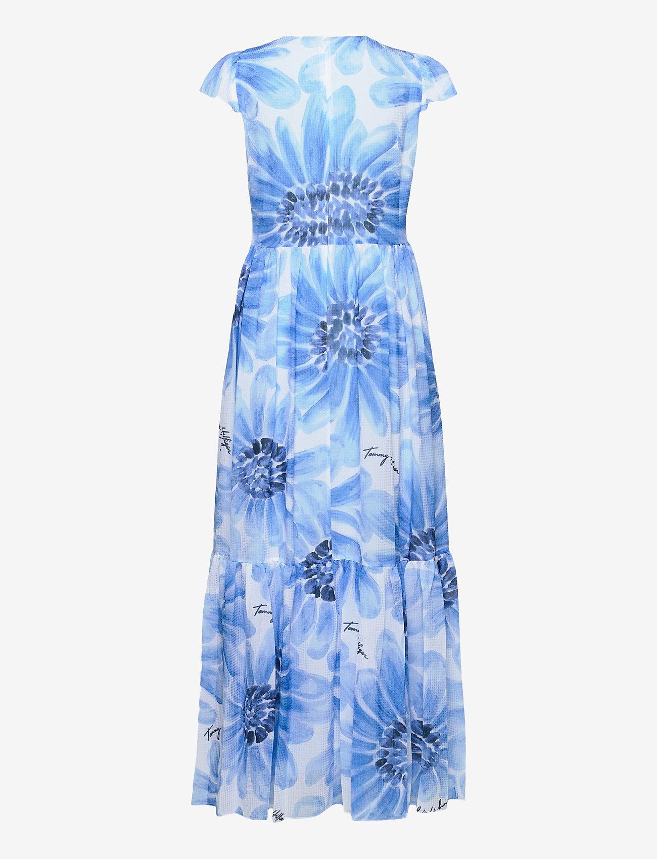 Tommy Hilfiger - ABO GIANT DAISY LONG DRESS - sommerkjoler - sweet blue/multi - 1