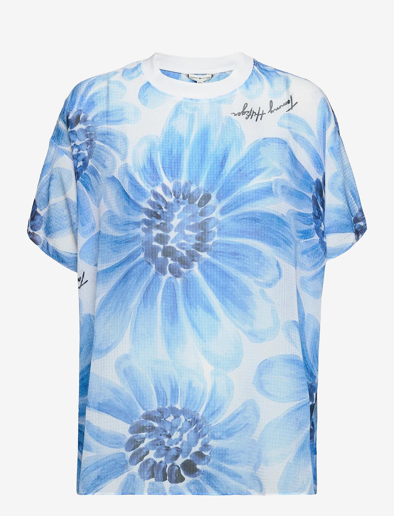 Tommy Hilfiger - ABO GIANT DAISY TSHIRT - t-shirts - sweet blue/multi - 0