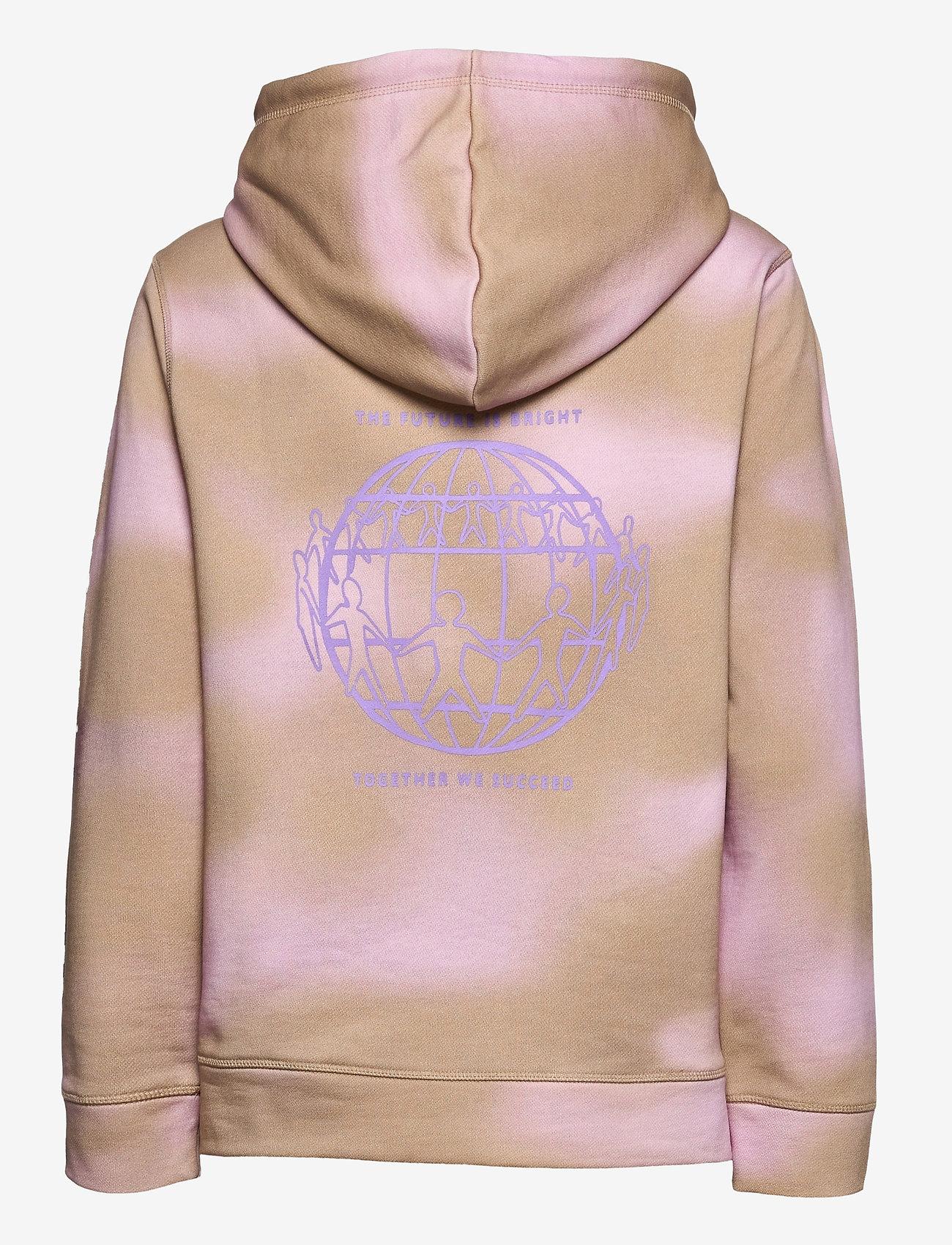 Tommy Hilfiger - ABO EARTH DAY HOODIE - sweatshirts & hættetrøjer - gentle gold / pastel pink prt - 1