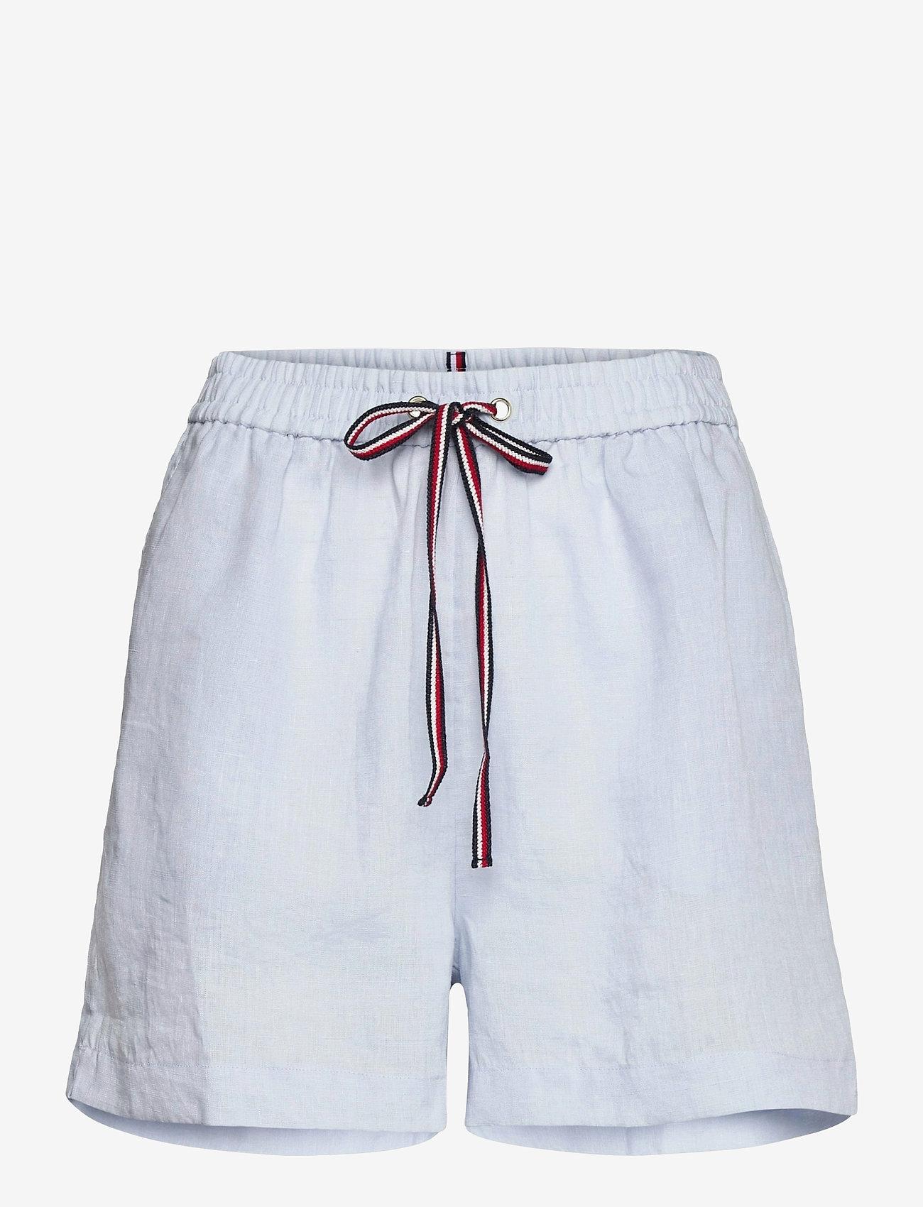 Tommy Hilfiger - ABO LINEN SHORT - shorts casual - breezy blue - 0