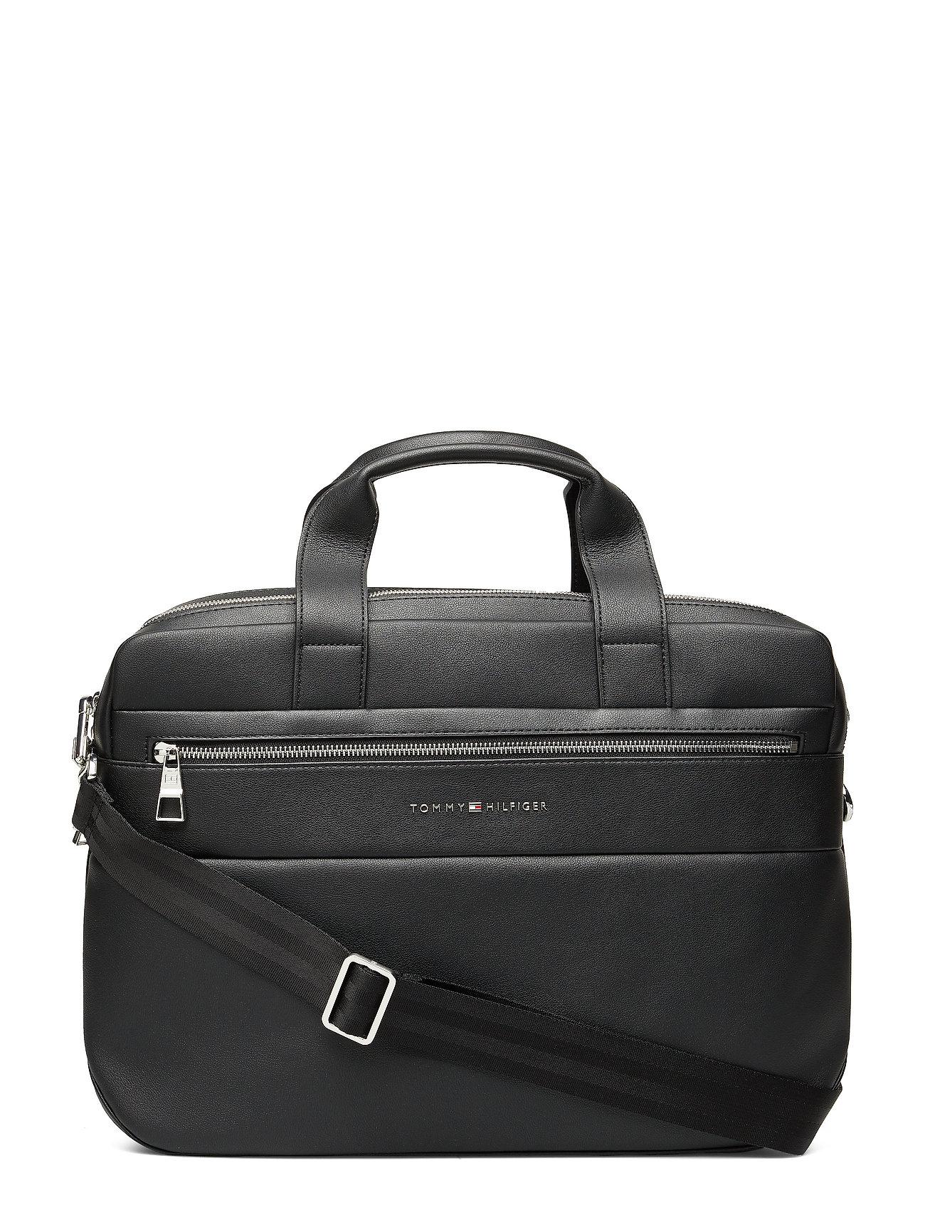 TOMMY HILFIGER Novelty Mix Workbag Laptop-Tasche Tasche Schwarz TOMMY HILFIGER