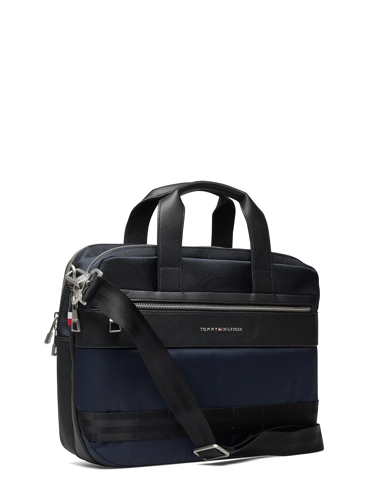 TOMMY HILFIGER Nylon Mix Workbag Laptop-Tasche Tasche Blau TOMMY HILFIGER