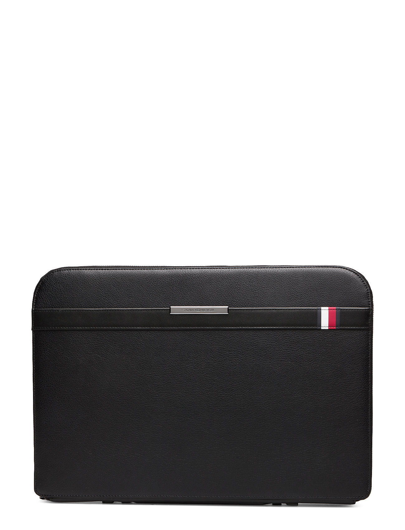 Tommy Hilfiger TH DOWNTOWN LAPTOP FOLIO LEATHER - BLACK