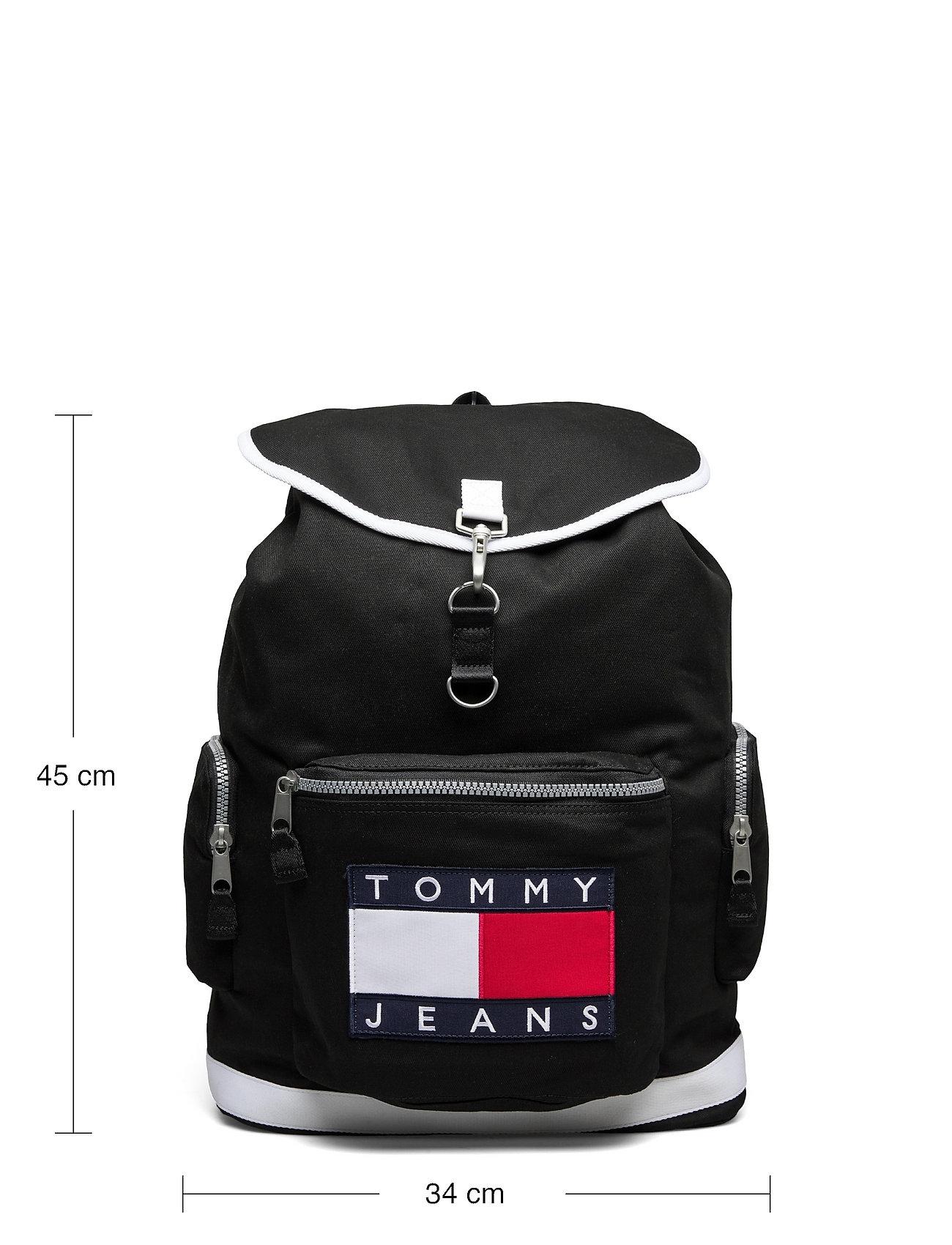 Tommy Hilfiger - TJM HERITAGE OVERSIZE BACKPACK - sacs a dos - black - 5