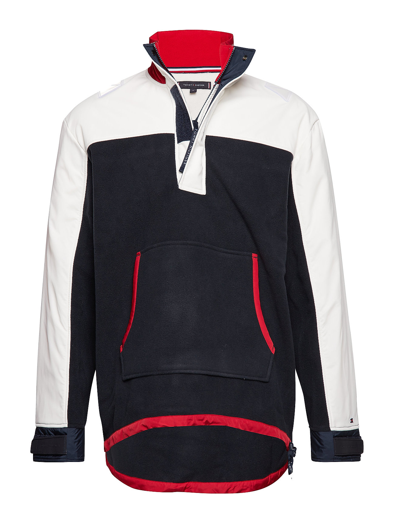 Tommy Hilfiger RELAXED POLARFLEECE, - SKY CAPTAIN / MULTI