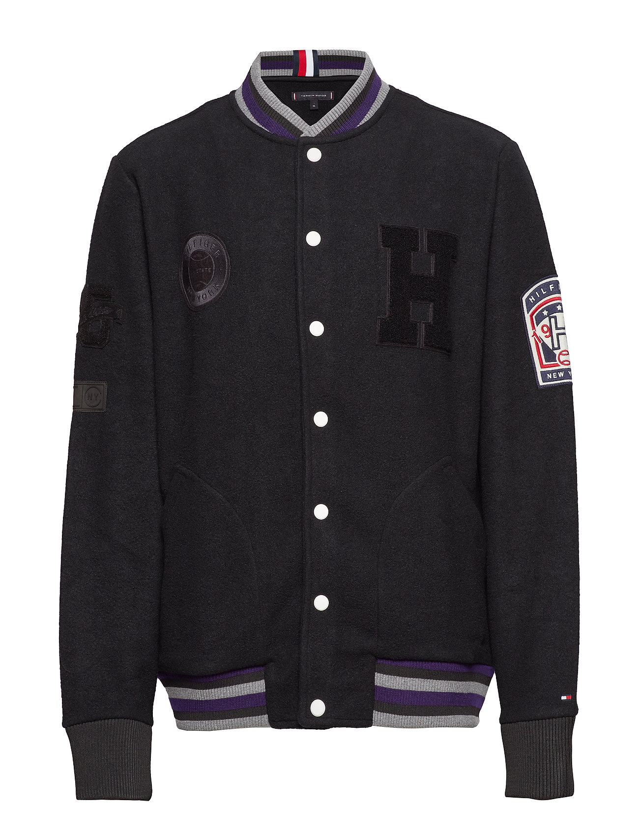 Tommy Hilfiger FELTED FLEECE BOMBER - JET BLACK