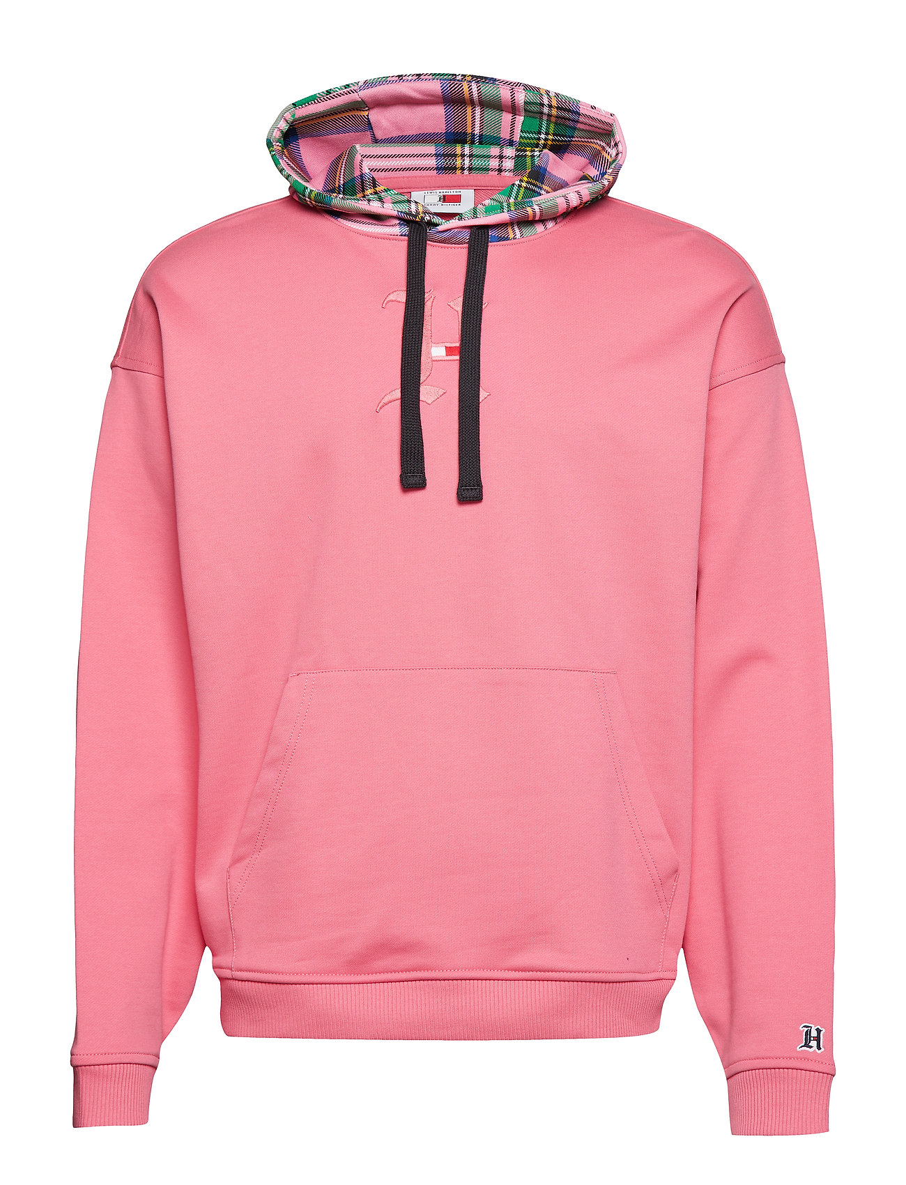 Tommy Hilfiger LH CHECK HOOD GRAPHIC HOODY - FRUIT DOVE