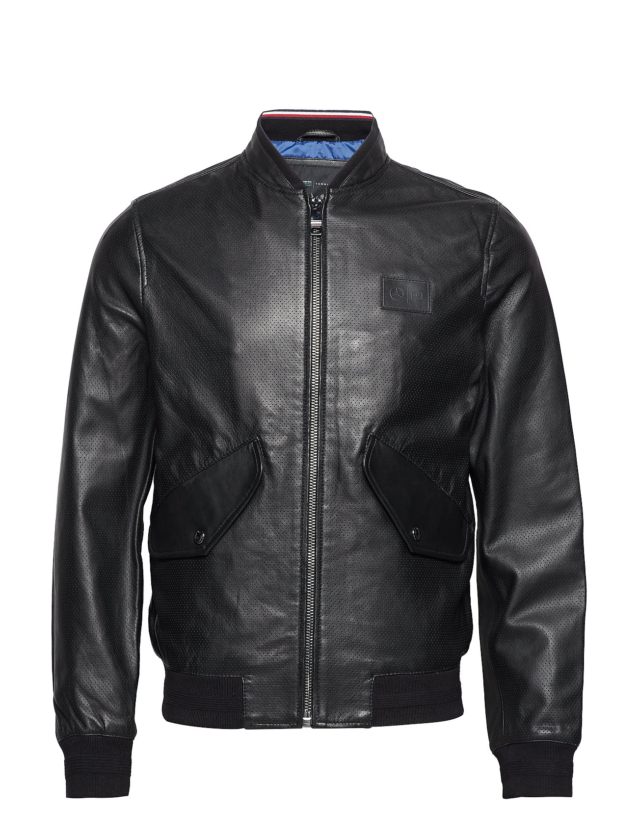 Tommy Hilfiger 2 MB PERFORATED LEATHER BOMBER - JET BLACK